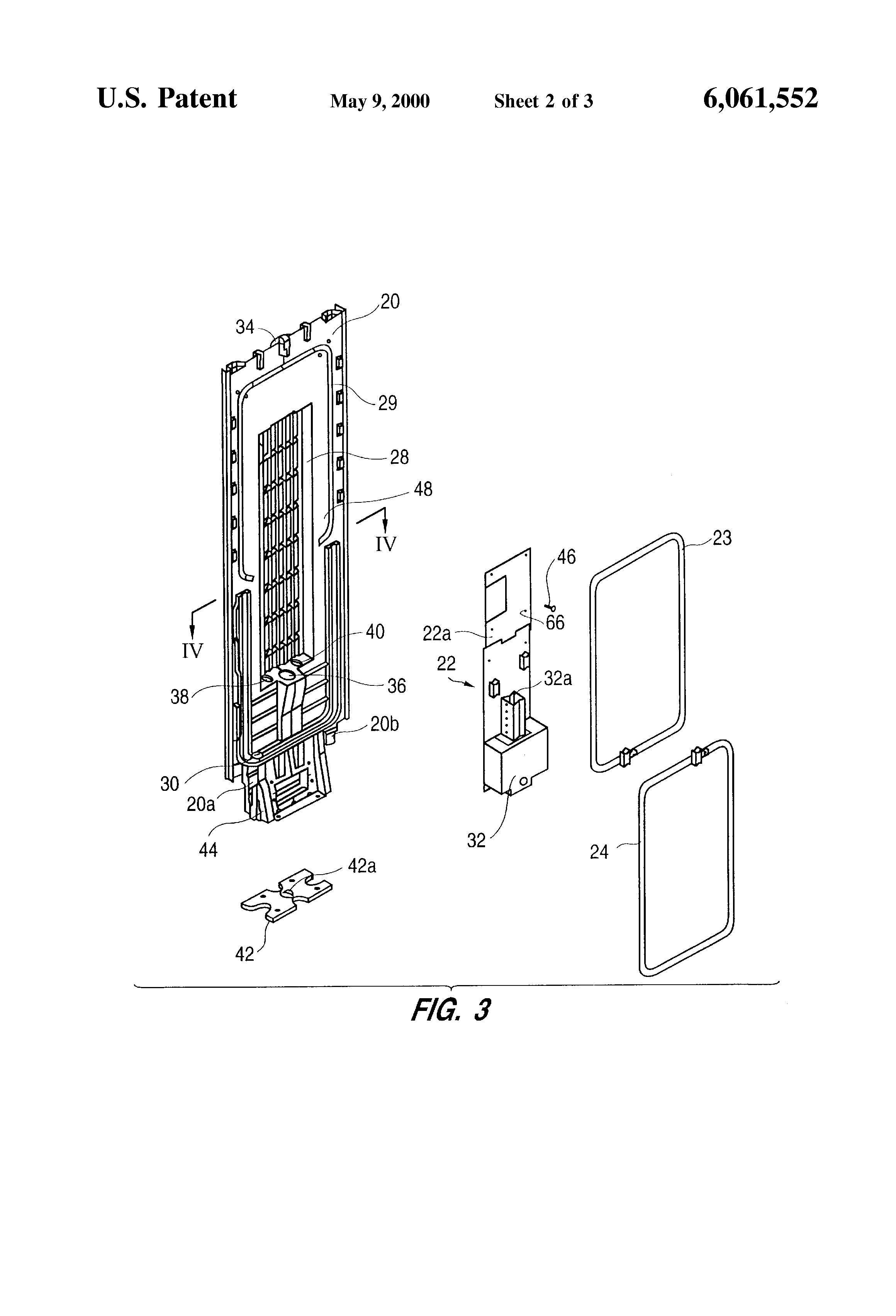 Patent US6061552 - EAS pedestal and method for making the