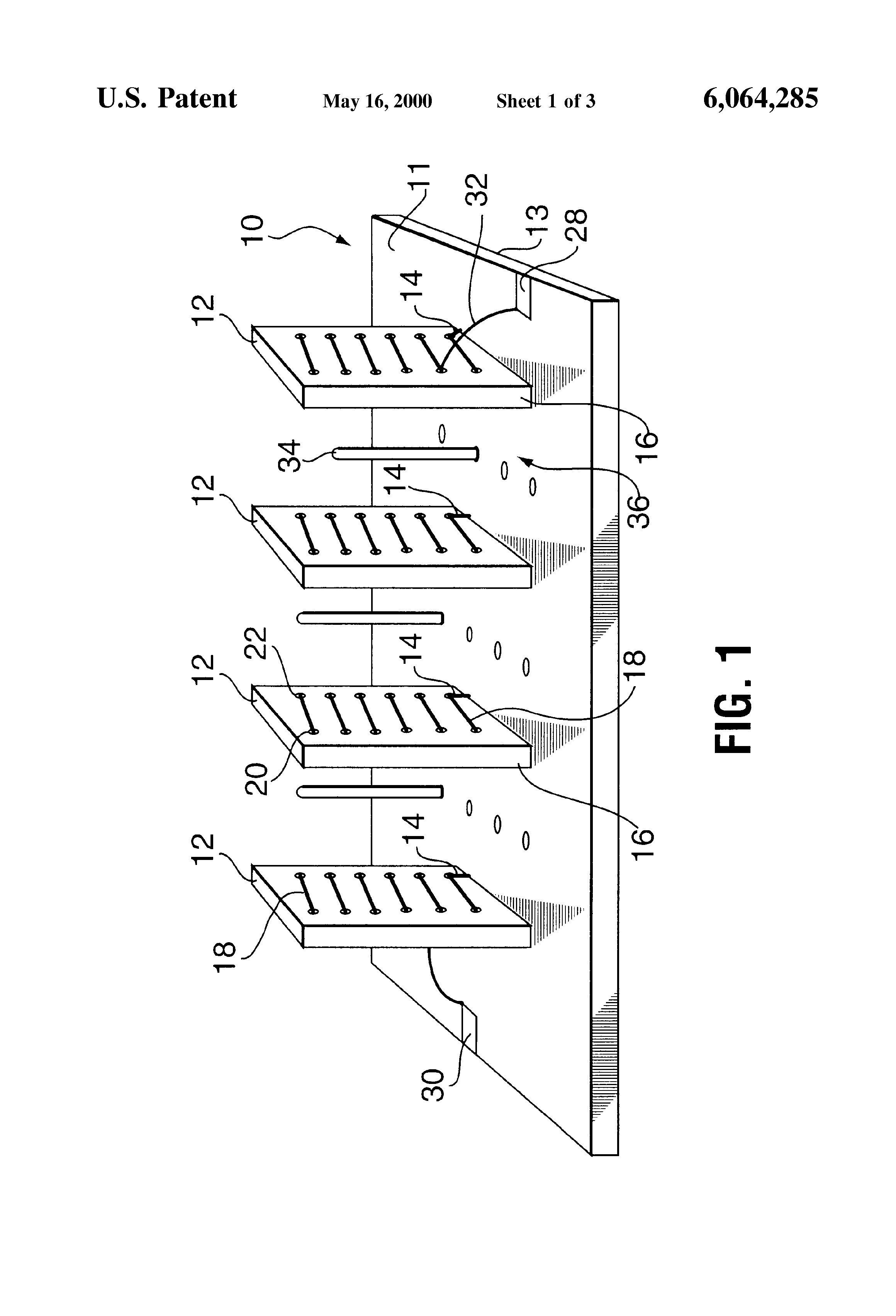 patent us6064285 - printed circuit board helical resonator and filter apparatus