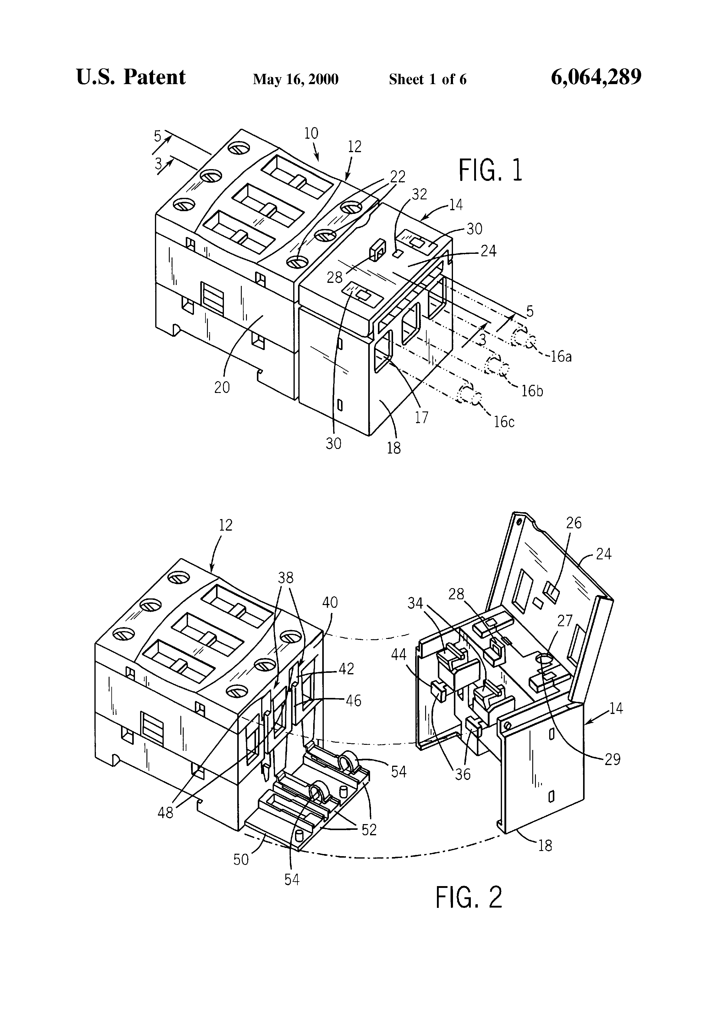 Patent Us6064289 Electromagnetic Contactor With Overload