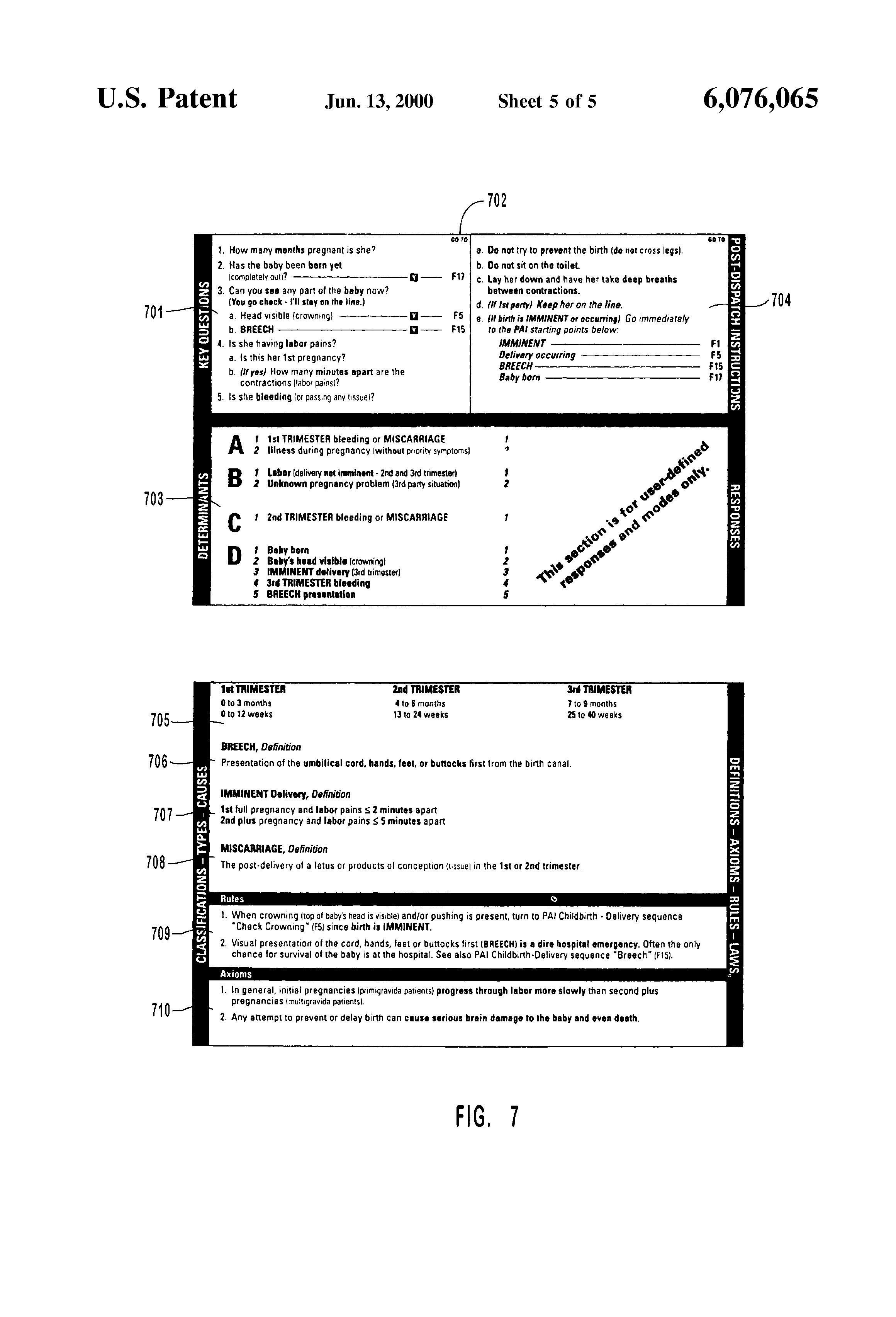 براءة الاختراع US6076065 - Method and system for the
