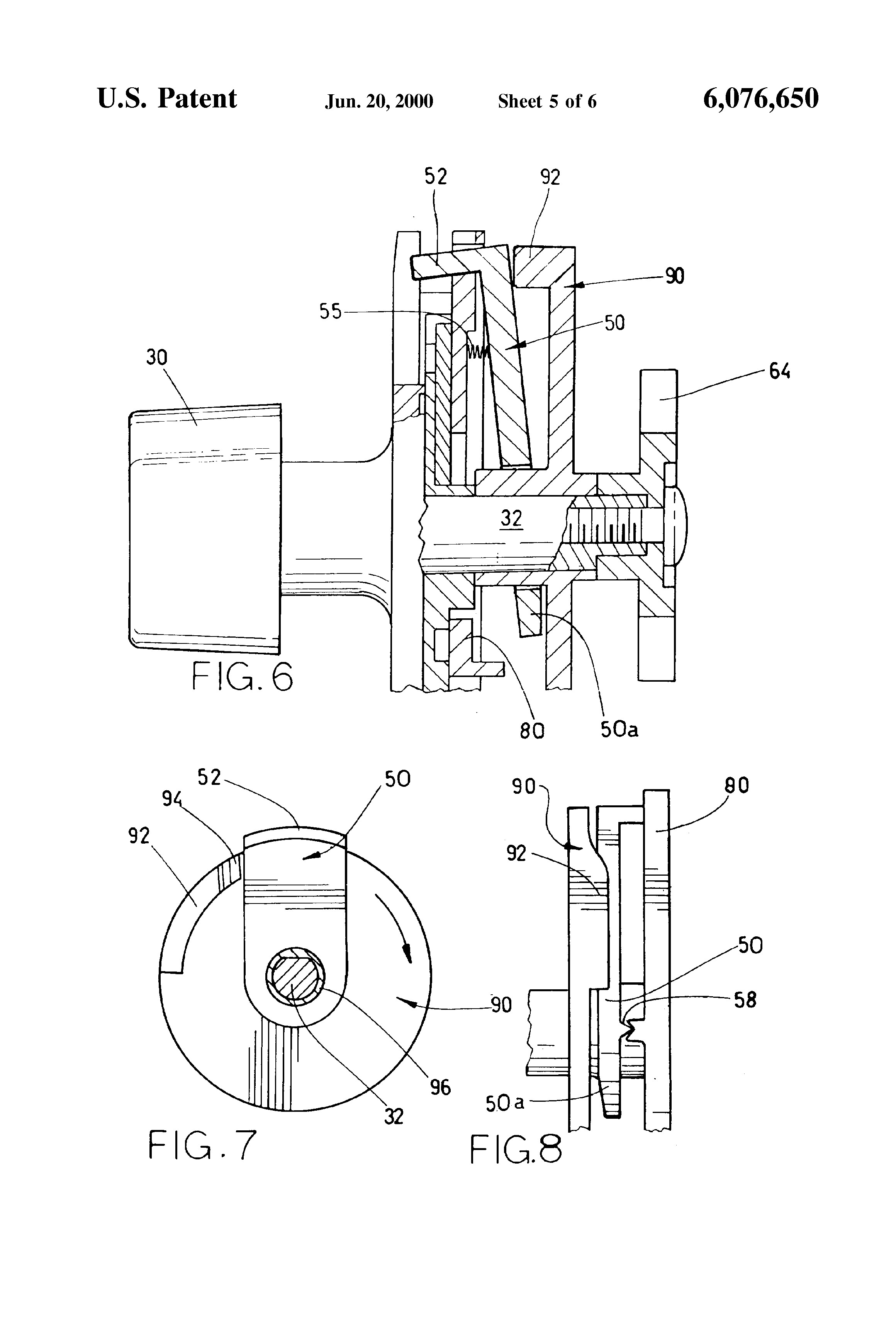 patent us6076650 - coin mechanism with coin slot blocking system