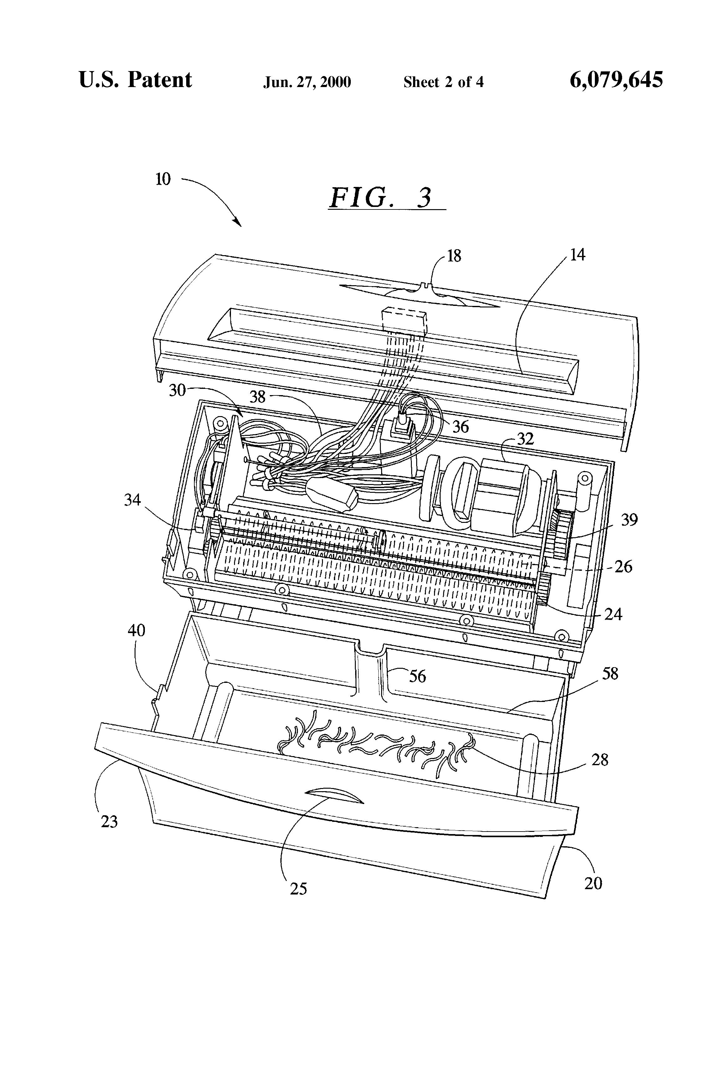 Patent US6079645 - Desktop shredders - Google Patents on
