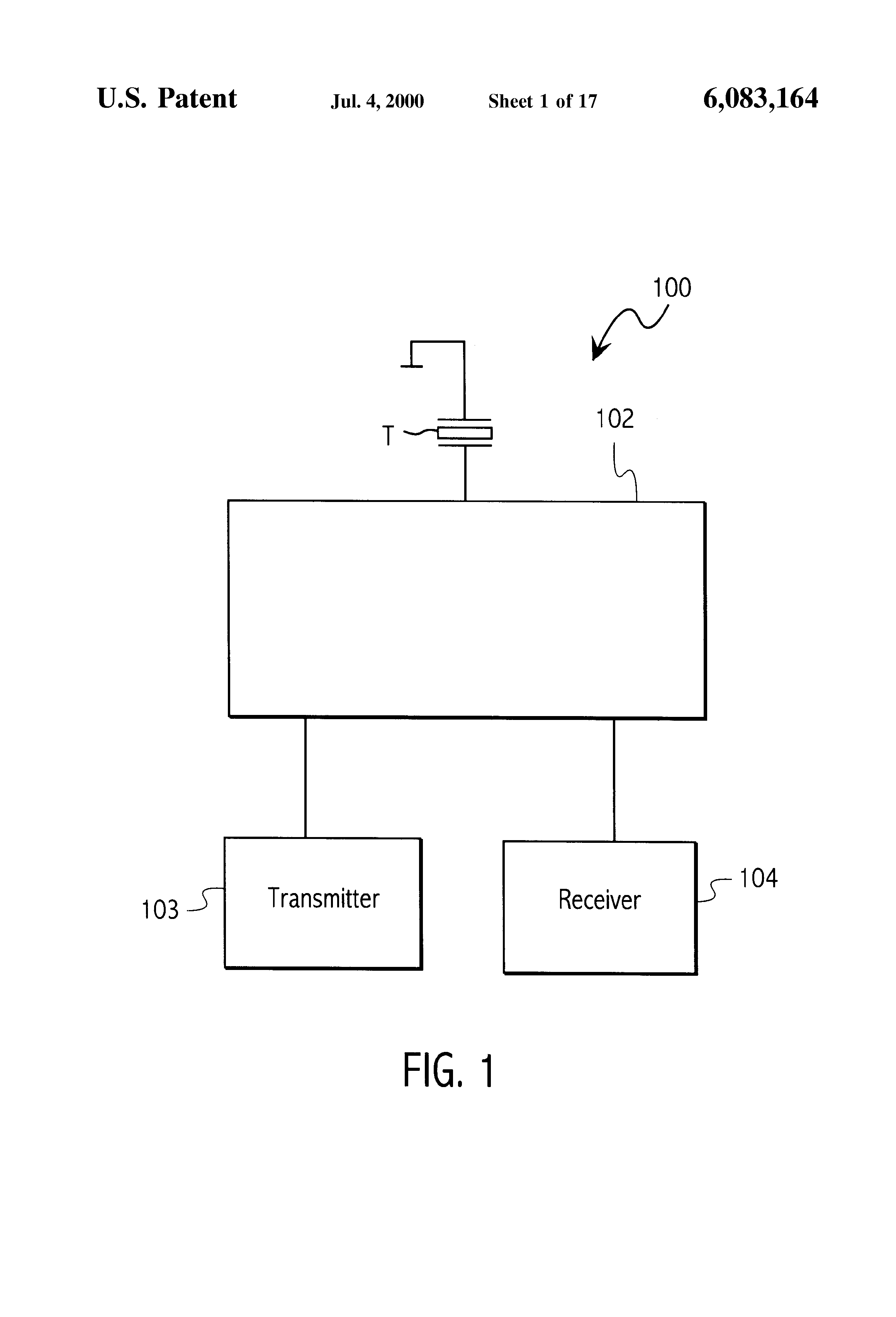 Patent Us6083164 Ultrasound Front End Circuit Combining The Ultrasonic Transmitter Diagram Drawing