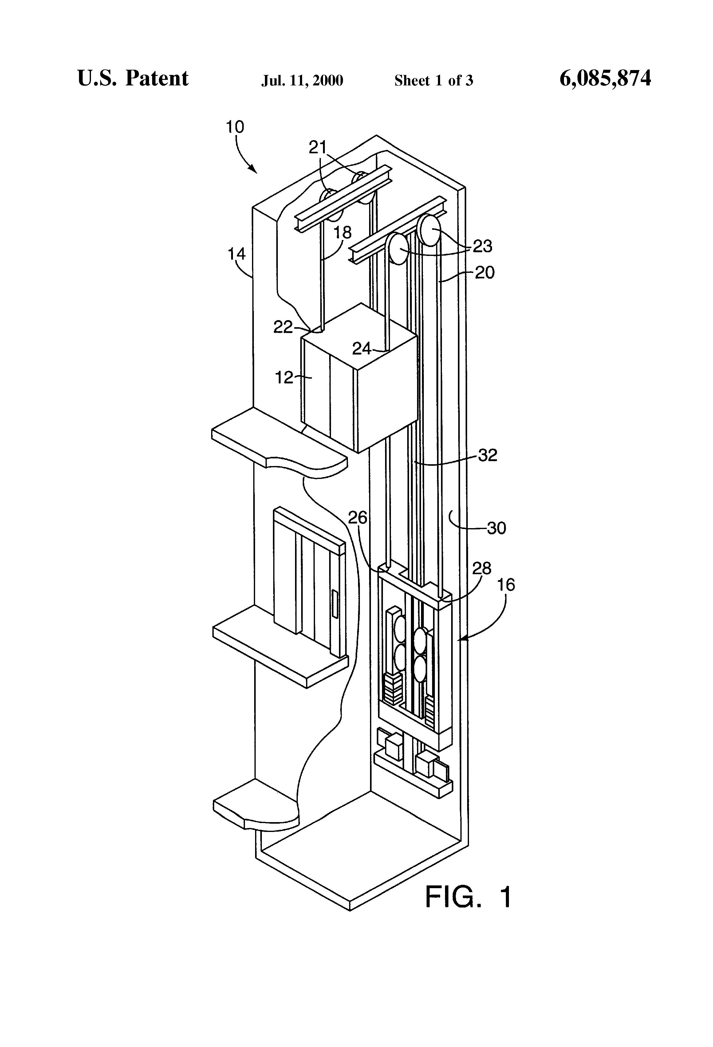 Patent US6085874 - Rail-climbing elevator counterweight ...