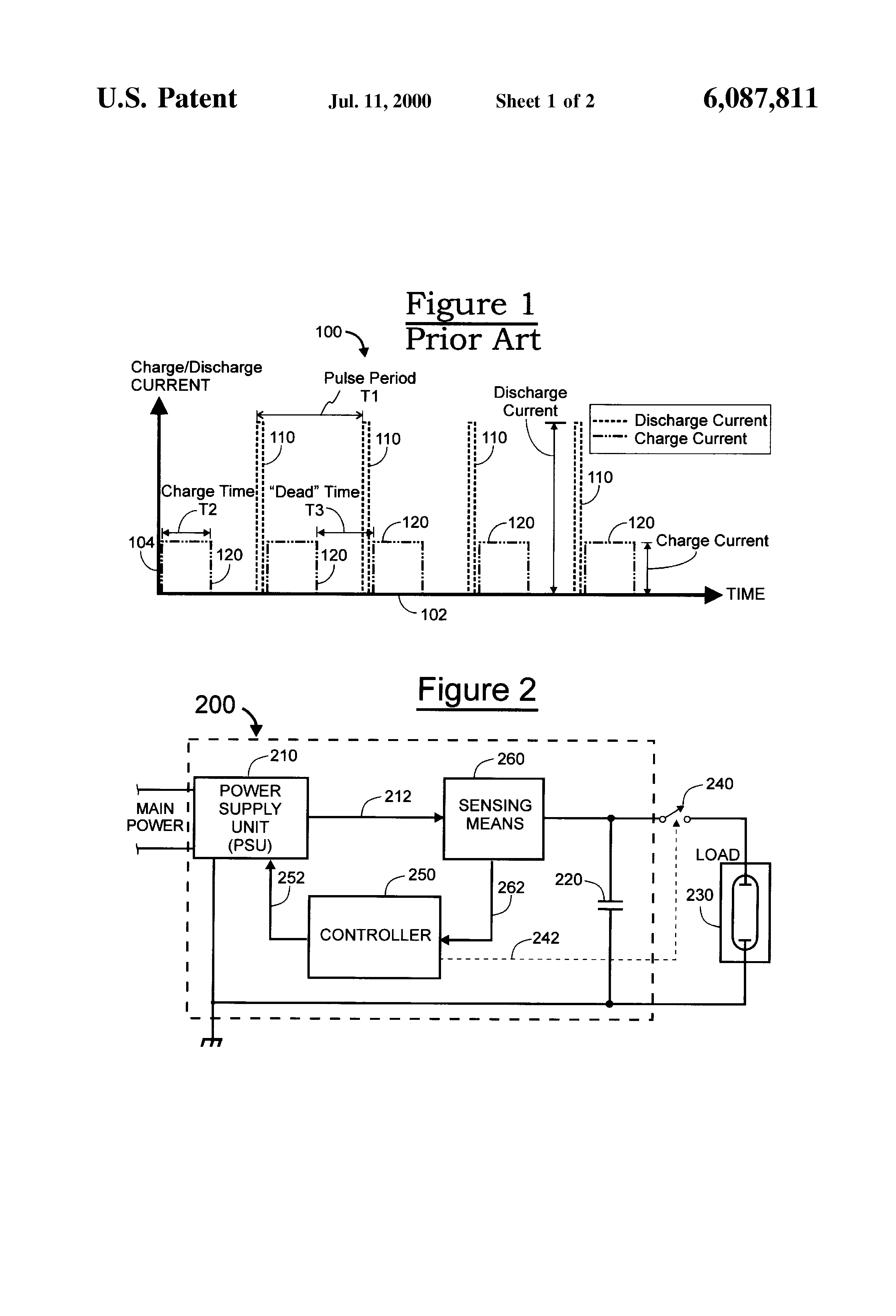 Patent Us6087811 Pulsed Output Power Supply With High Factor Marx Generator Diagrams Although The Left Capacitor Has Greatest Drawing
