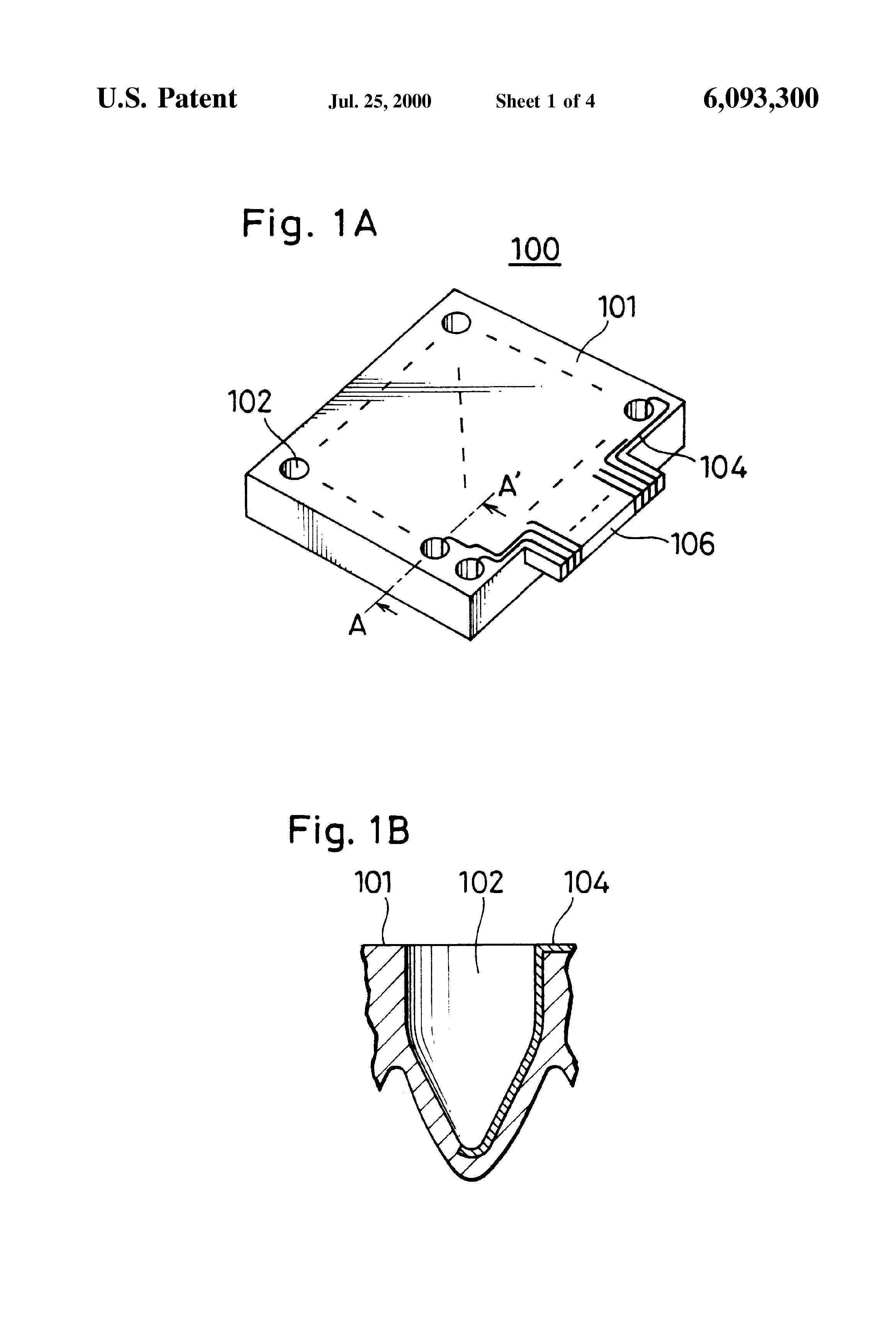 patent us6093300 - sample plate and multi-capillary electrophoresis apparatus