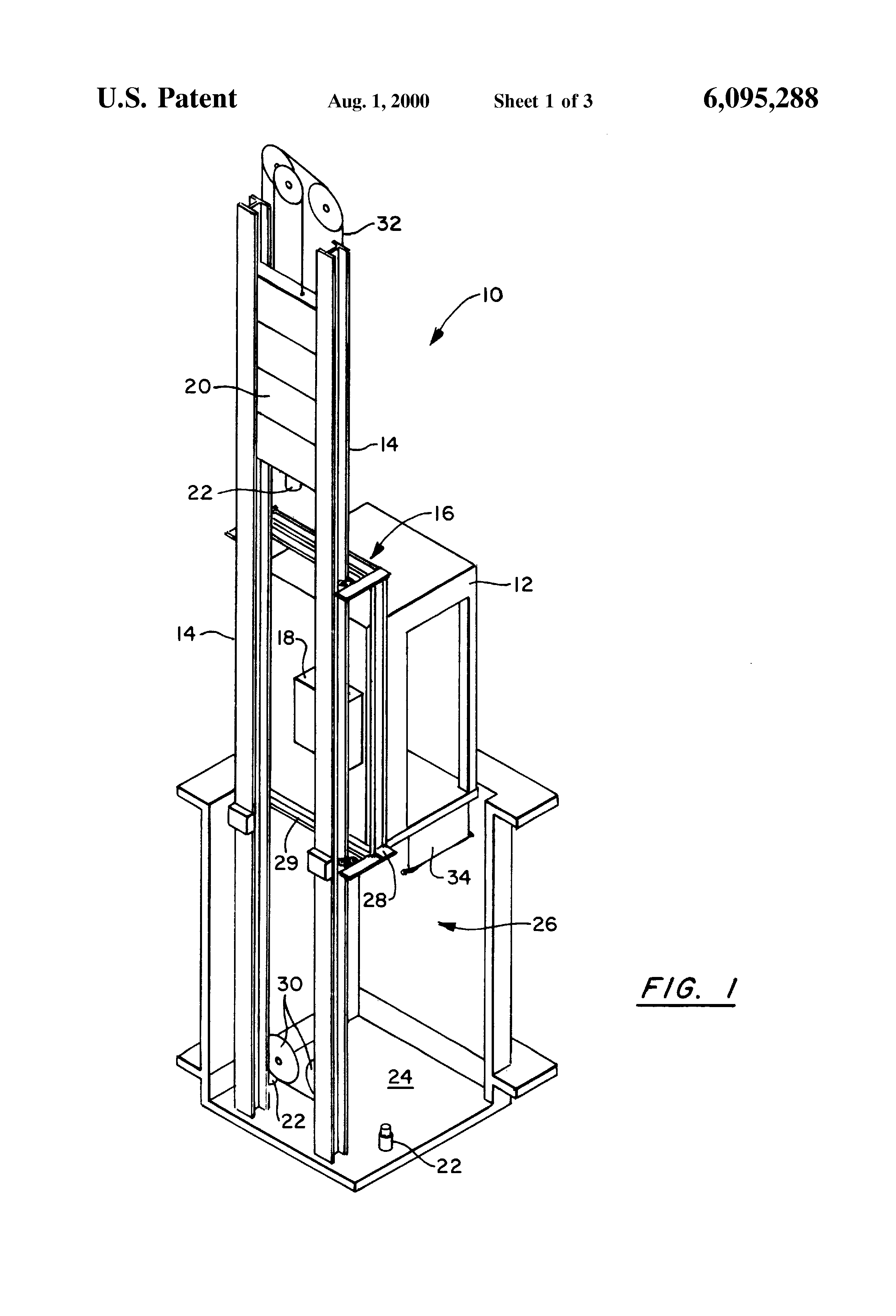 Patent US6095288 - Pit-less elevator - Google Patents