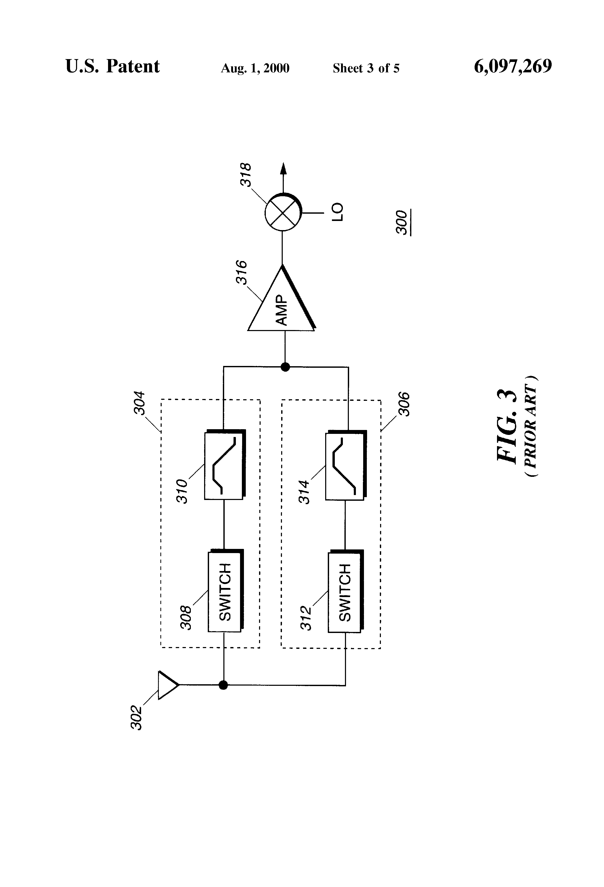Us6097269 Electrically Tunable Band Pass Filter Circuit Patent Drawing