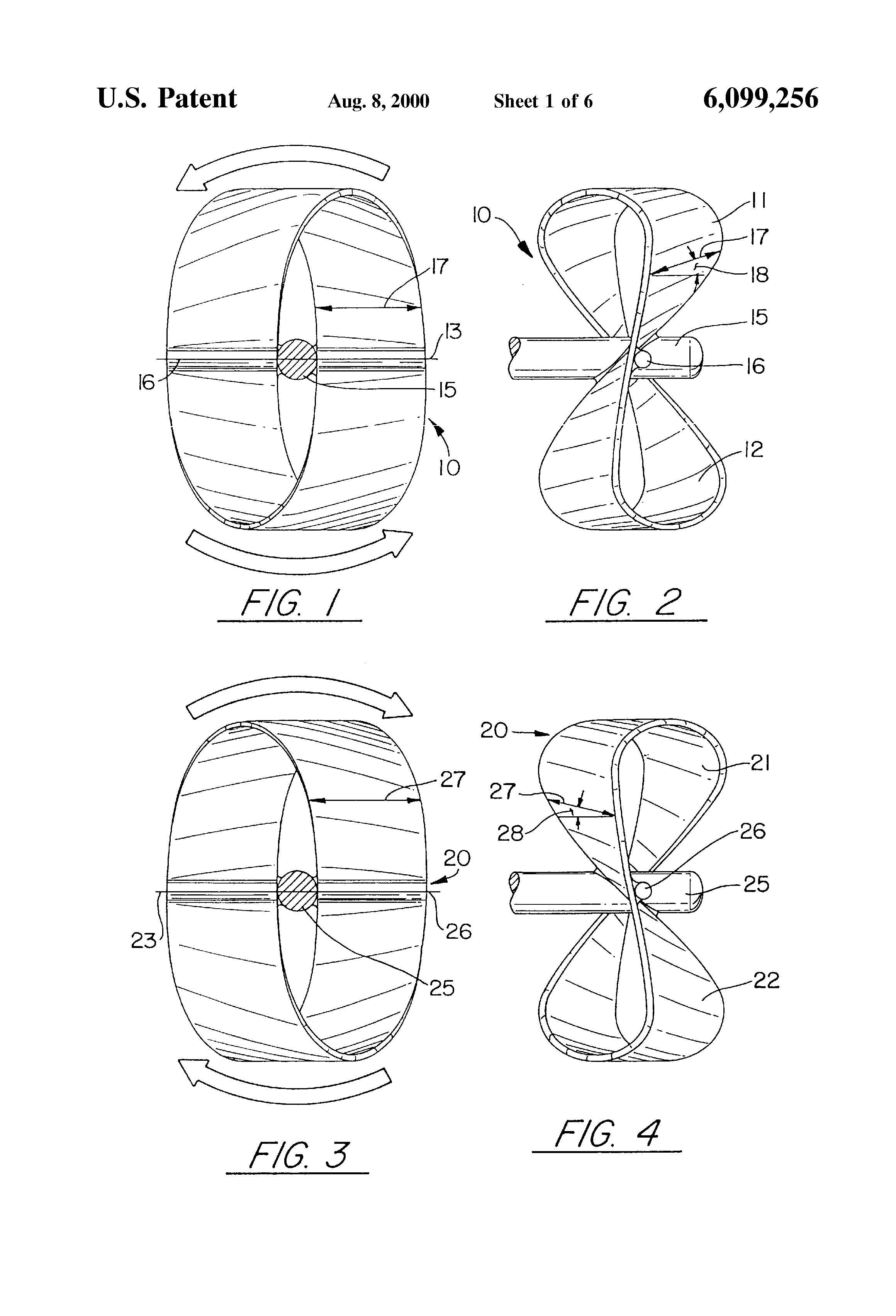 Patent US6099256 - Three dimensional figure eight propeller