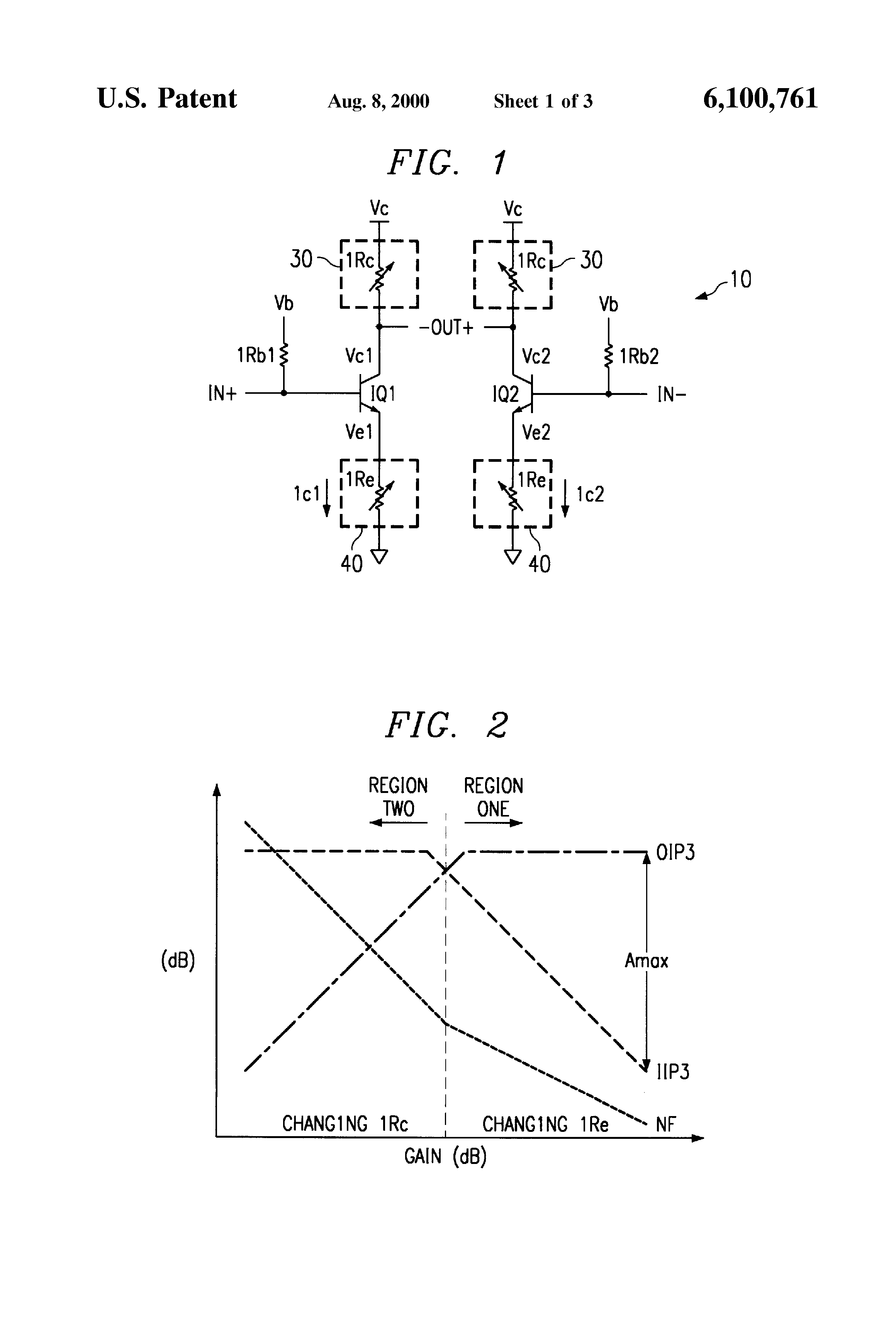 patent us6100761 highly linear variable gain low noise amplifier