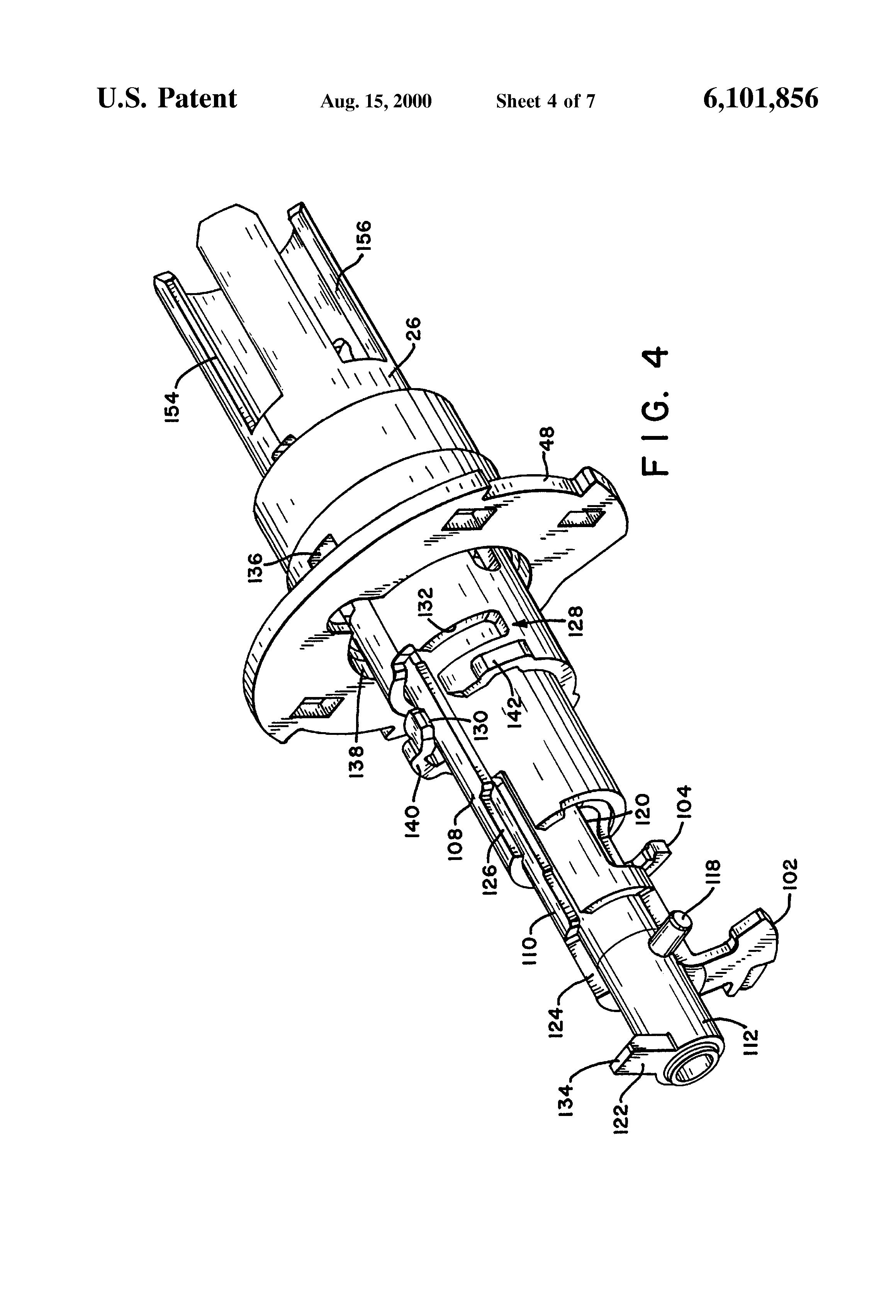 Patent Us6101856 Free Wheeling Lever Handle Lock