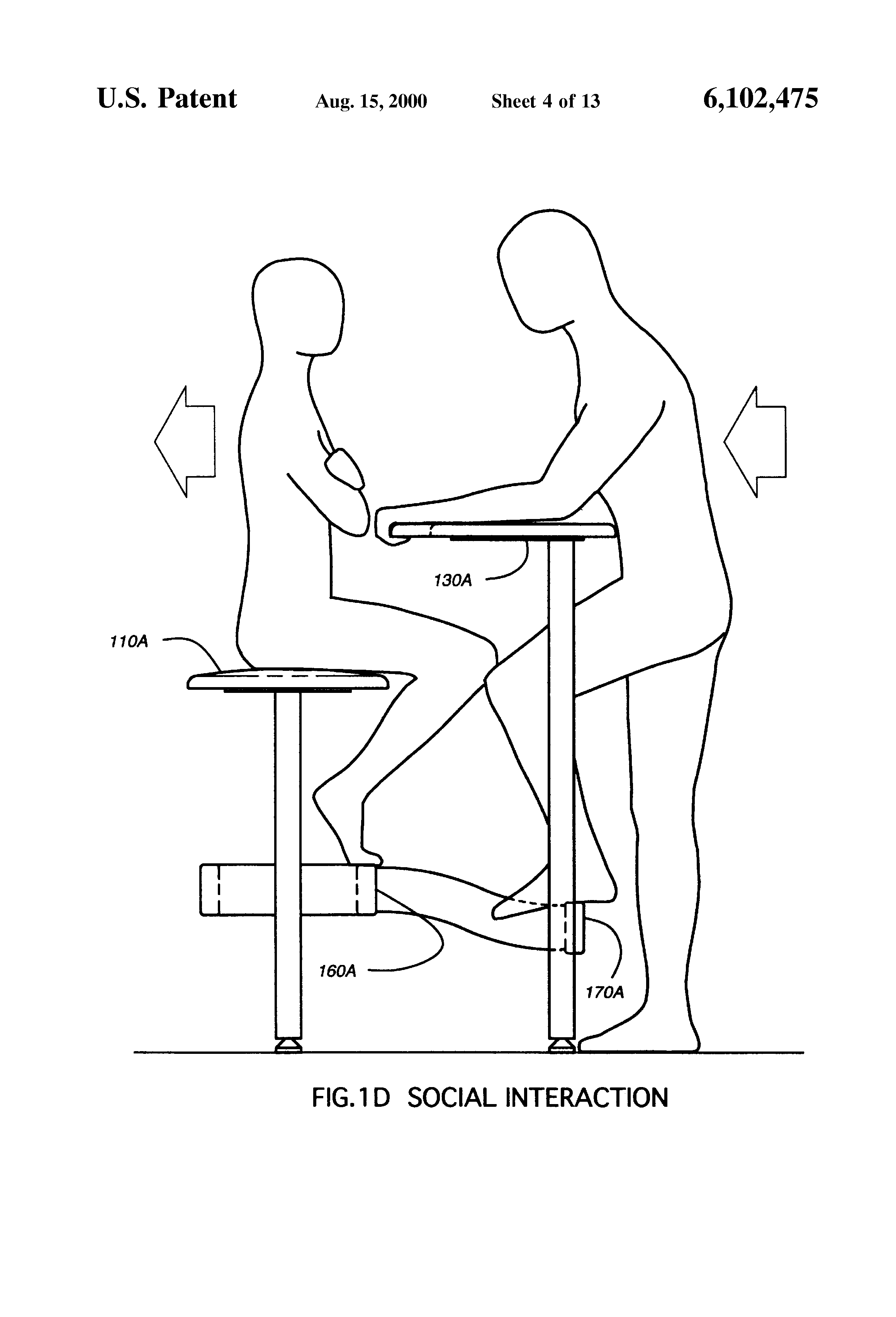 Bar height dining table with storage - Patent Us6102475 Stool With Attached Table Google Patents