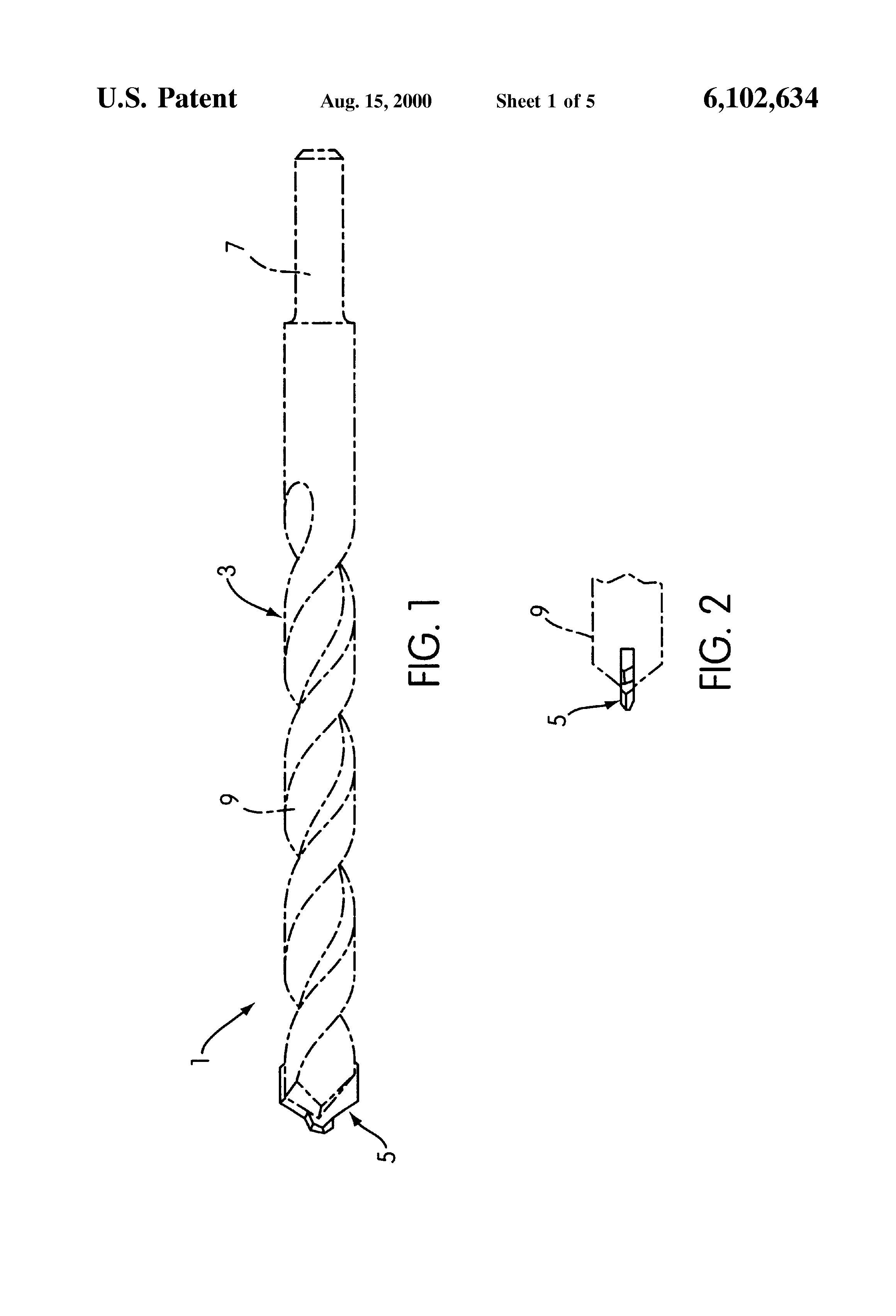 Patent US6102634 - Masonry drill bit - Google Patents