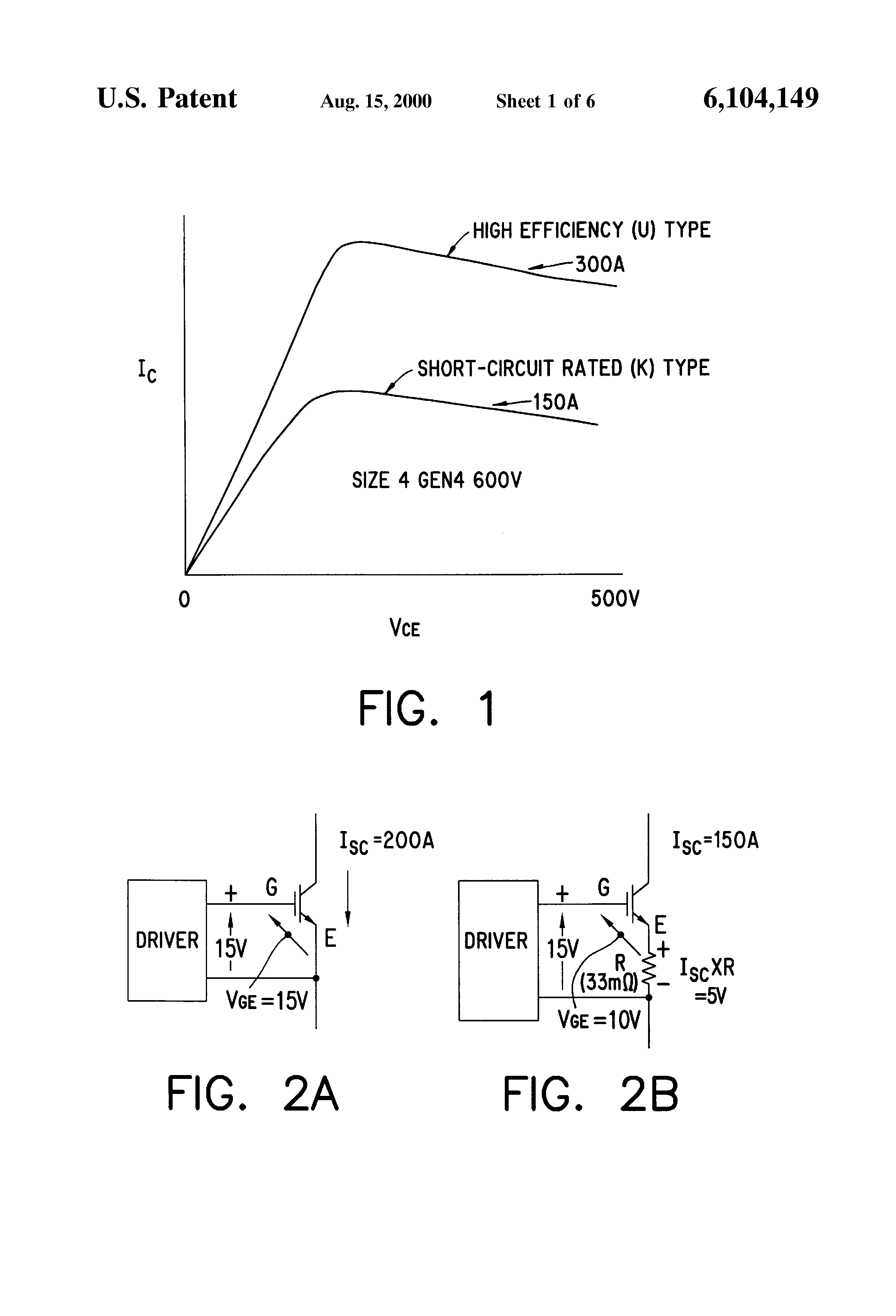 Patent Us6104149 Circuit And Method For Improving Short Figure 3 Simple Inverter Using Igbt Drawing