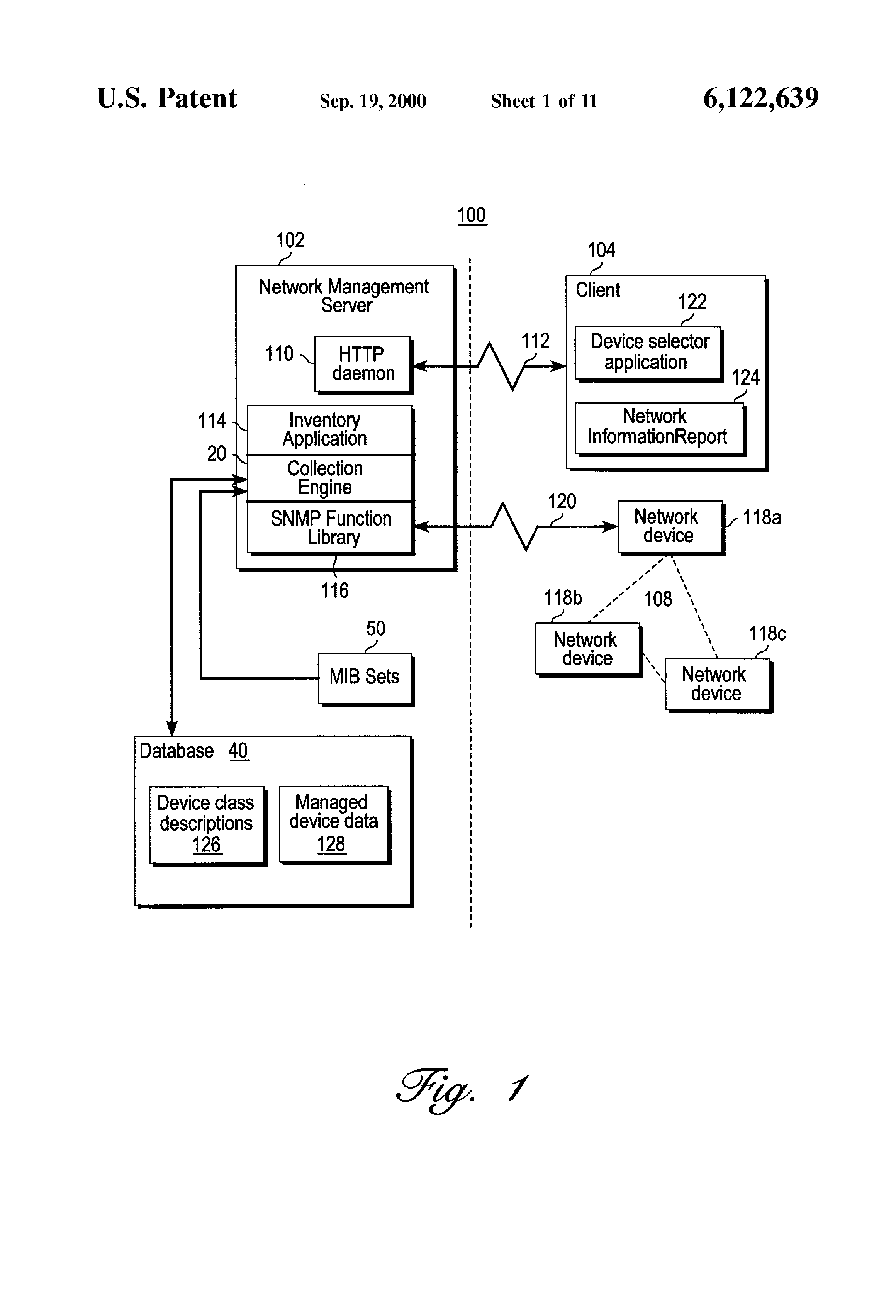 Patent Us6122639 Network Device Information Collection And Change Snmp Wiring Diagram Drawing