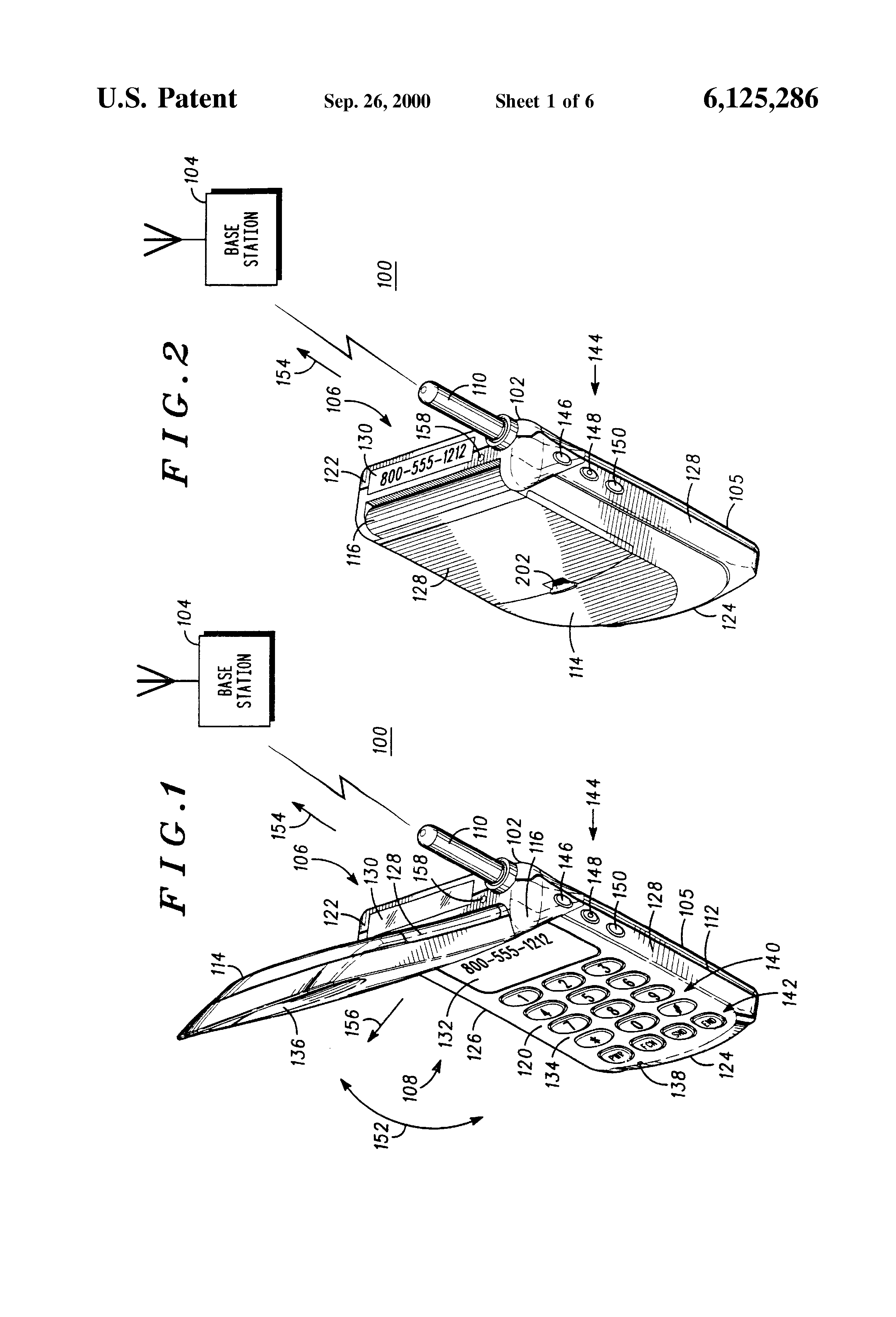 Brevet Us6125286 Communication Device Having Multiple Displays And Electric Power Saver Circuit Diagram Full Patent Drawing