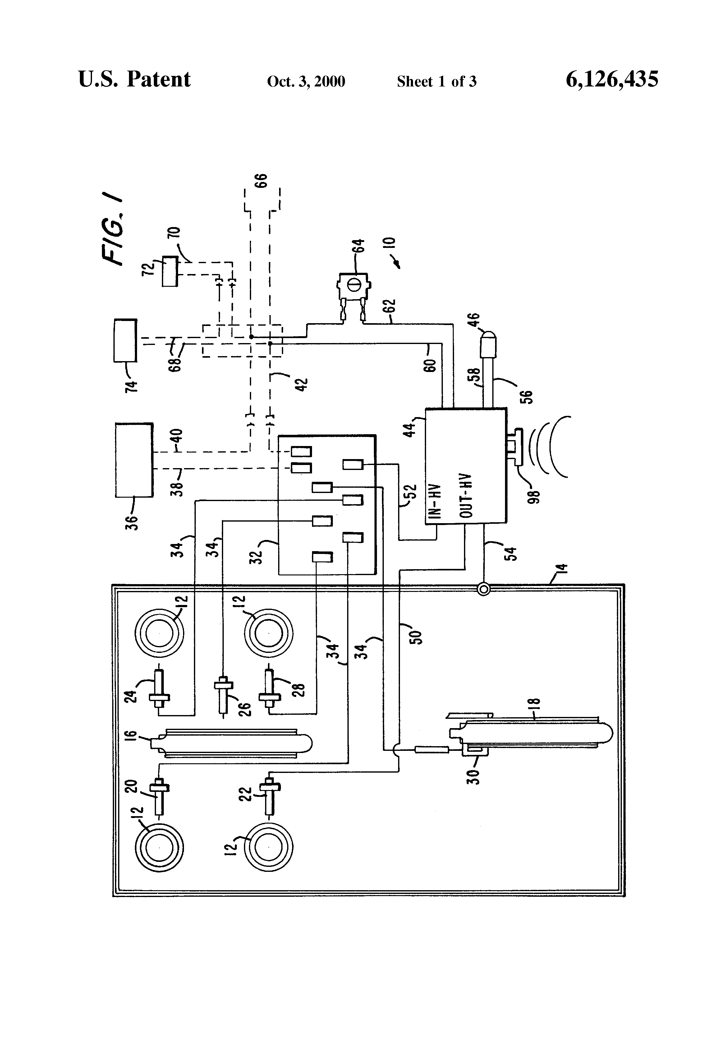 Patent Us6126435 Electronic Ignition System For A Gas