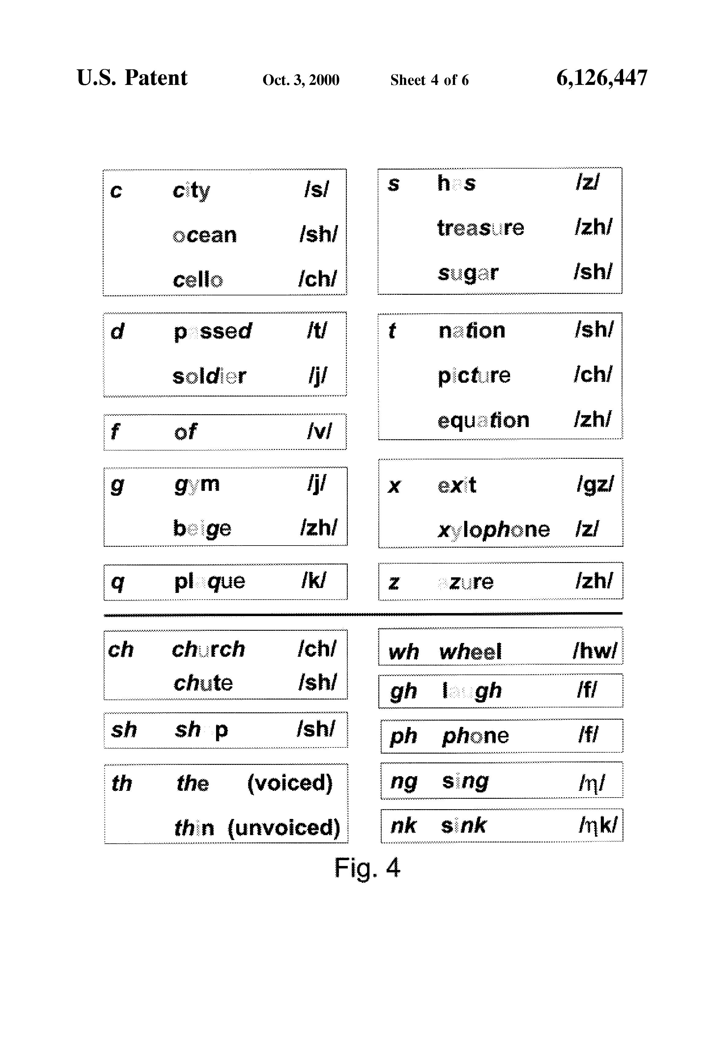 Patent us6126447 color assonant phonetics system google patents patent drawing nvjuhfo Choice Image