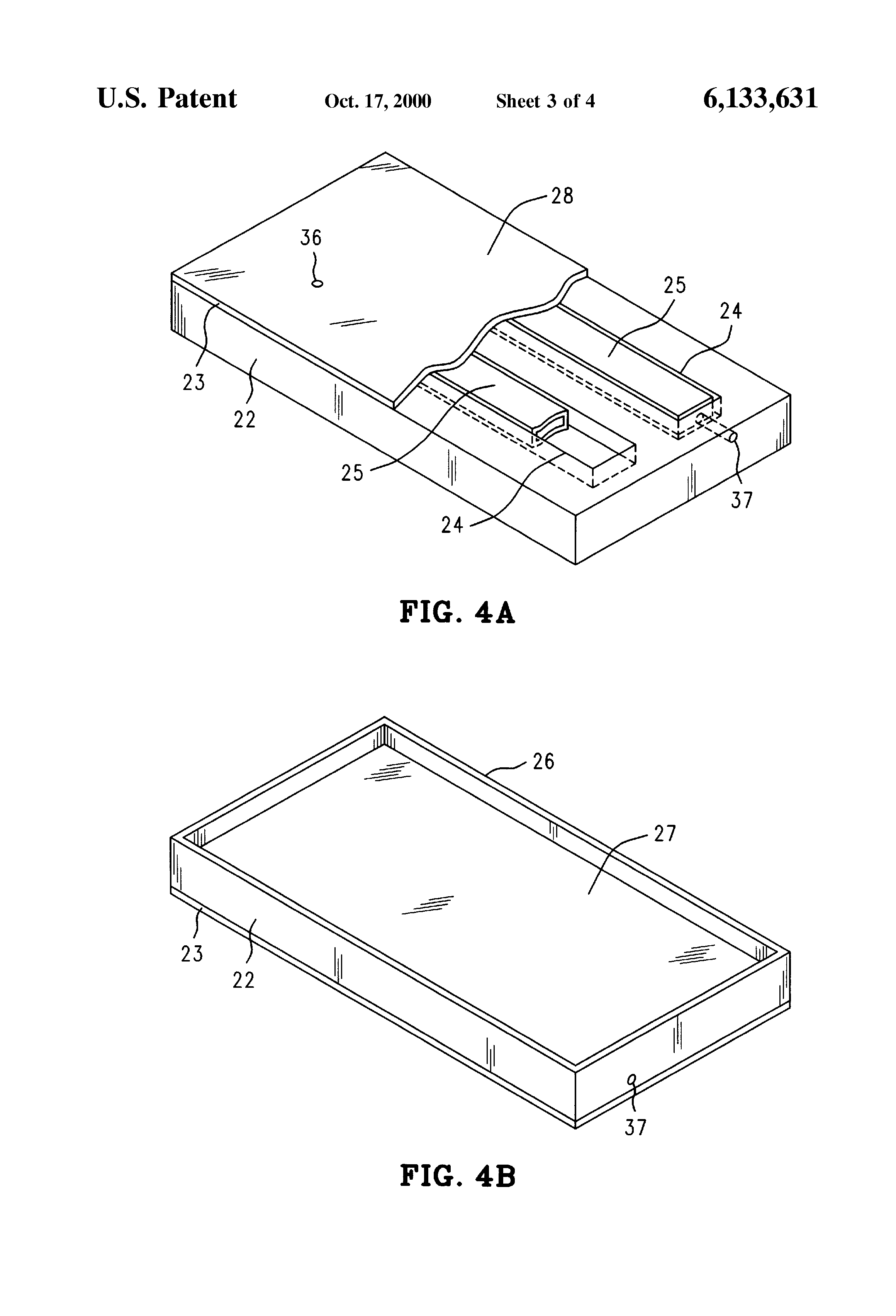 Patent Us6133631 Semiconductor Package Lid With Internal