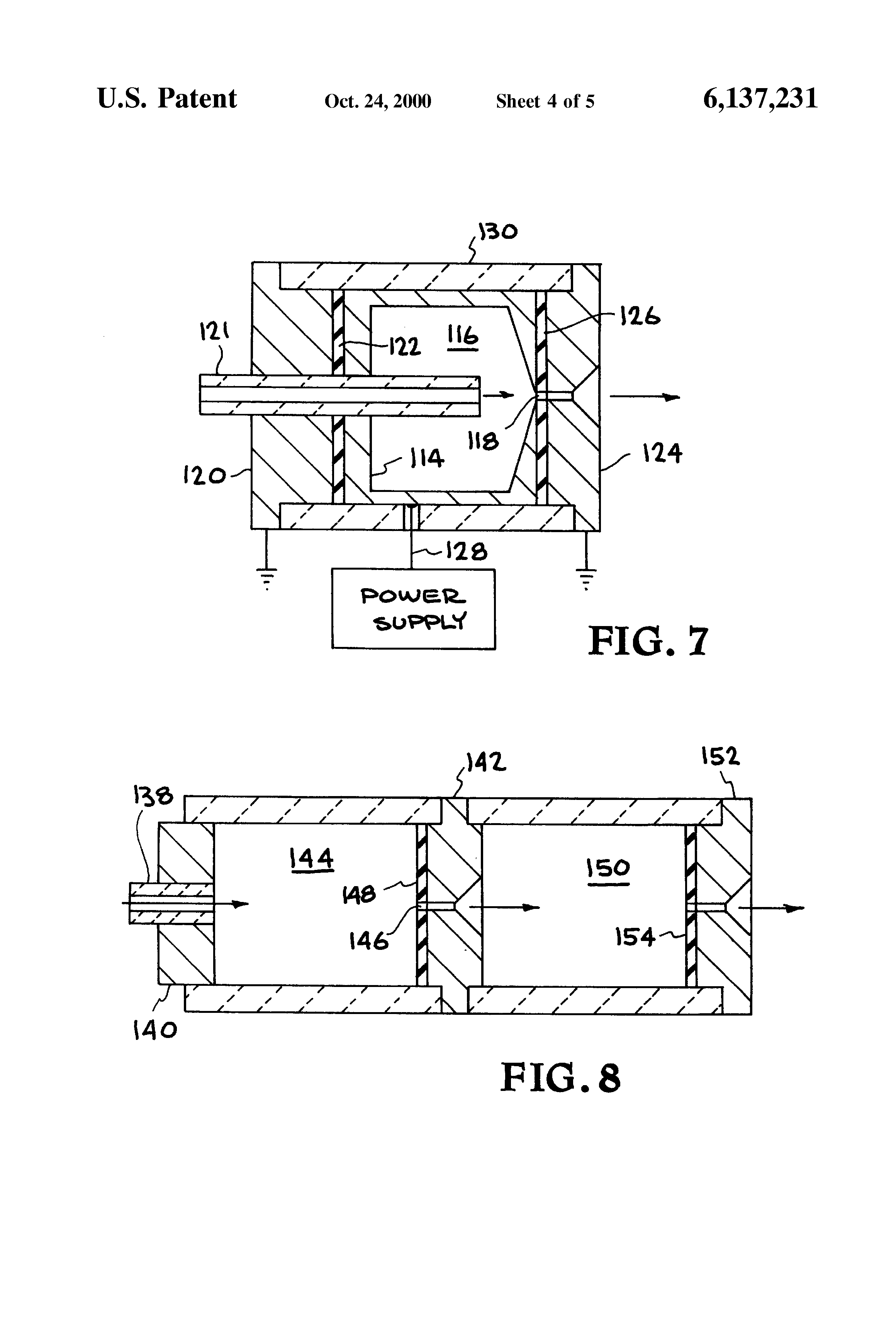 Patent Us6137231 Constricted Glow Discharge Plasma Source Google Engineering Schematics Flat Screen Drawing