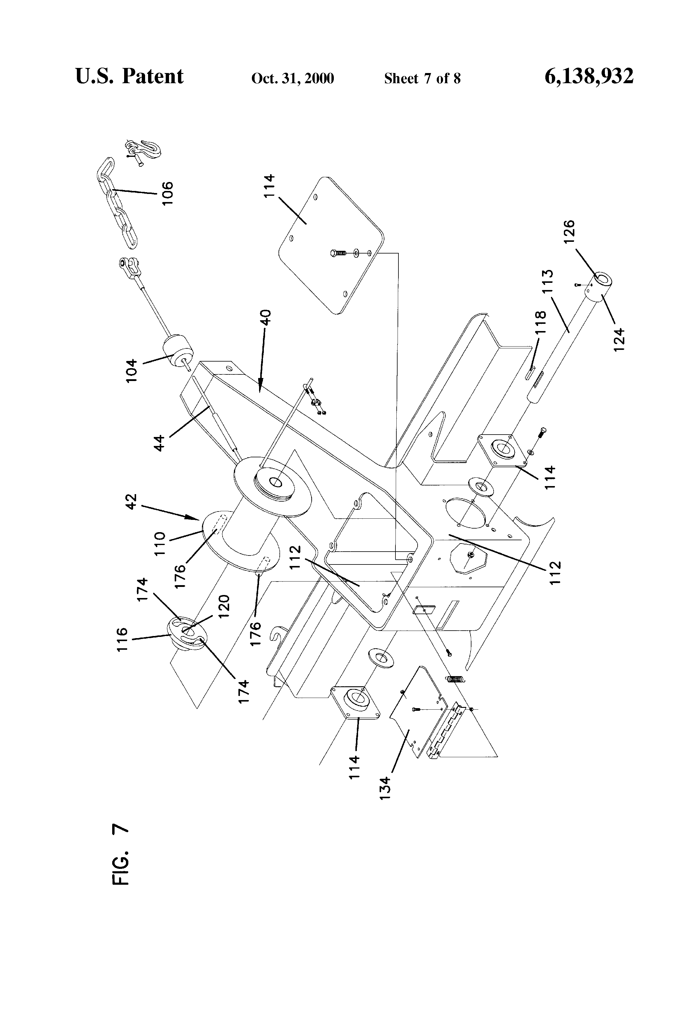 patent us6138932 - wood chipper with loading boom