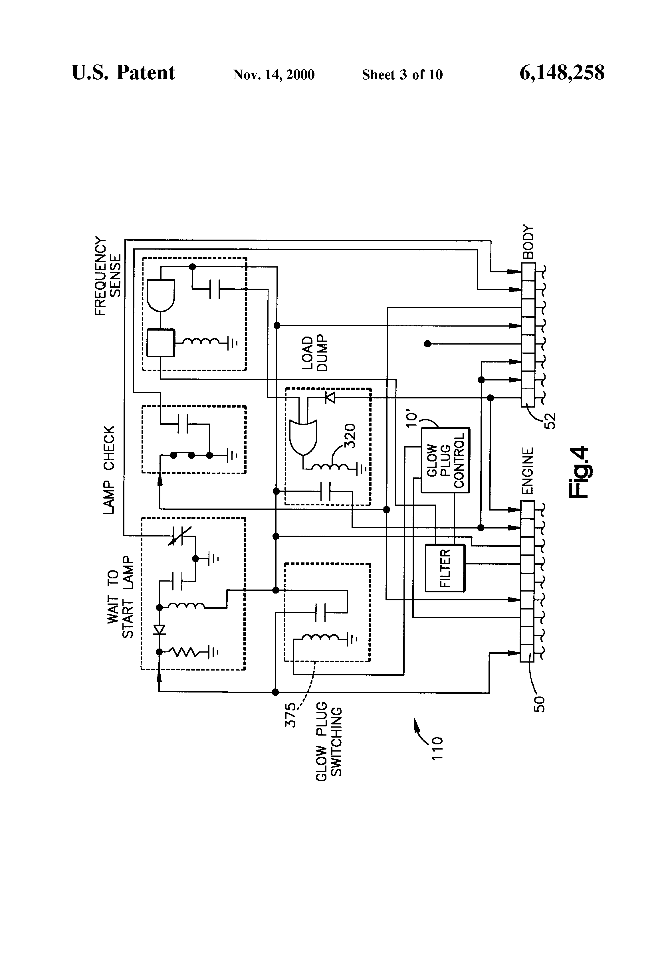 patent us electrical starting system for diesel engines patent drawing
