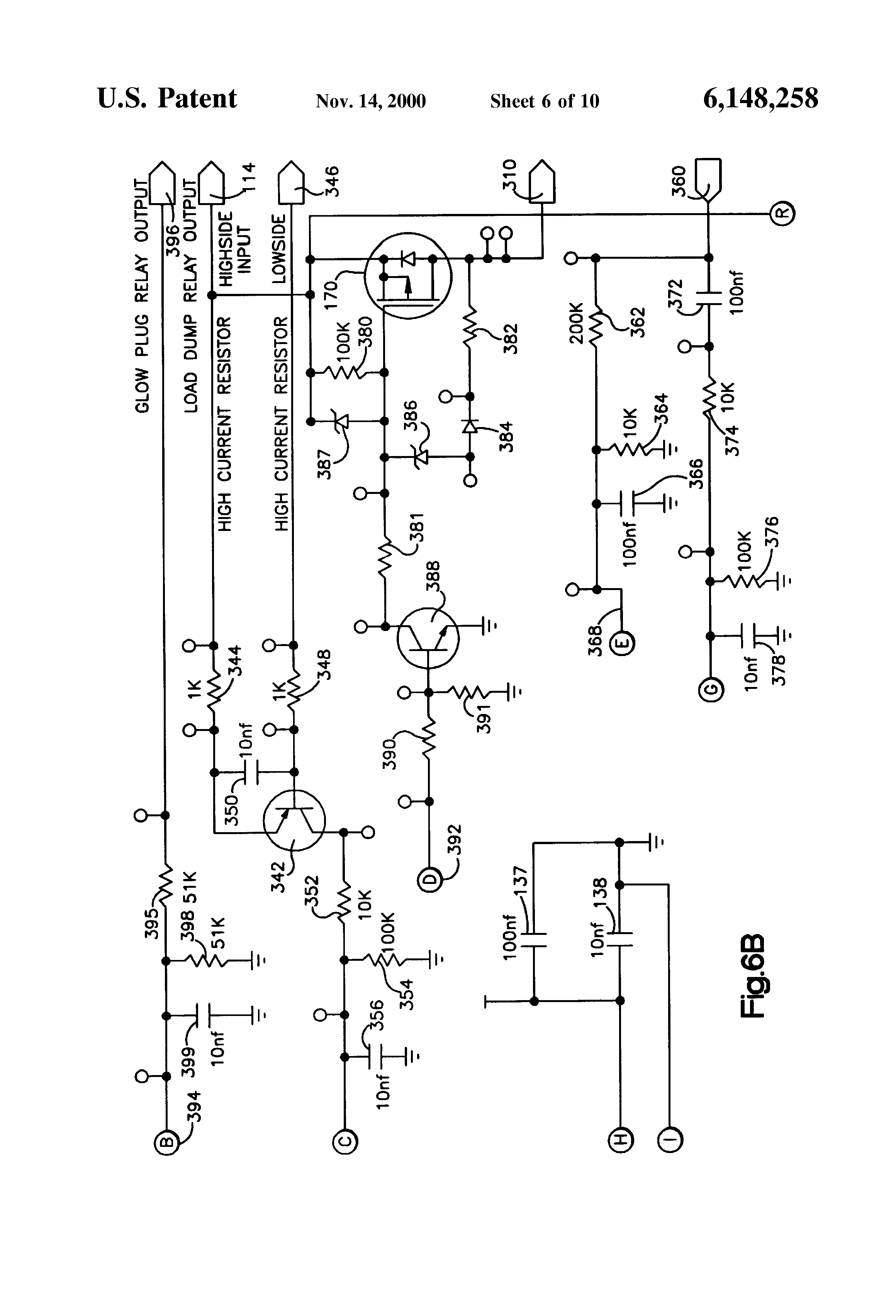 Patent US6148258  Electrical starting system for diesel
