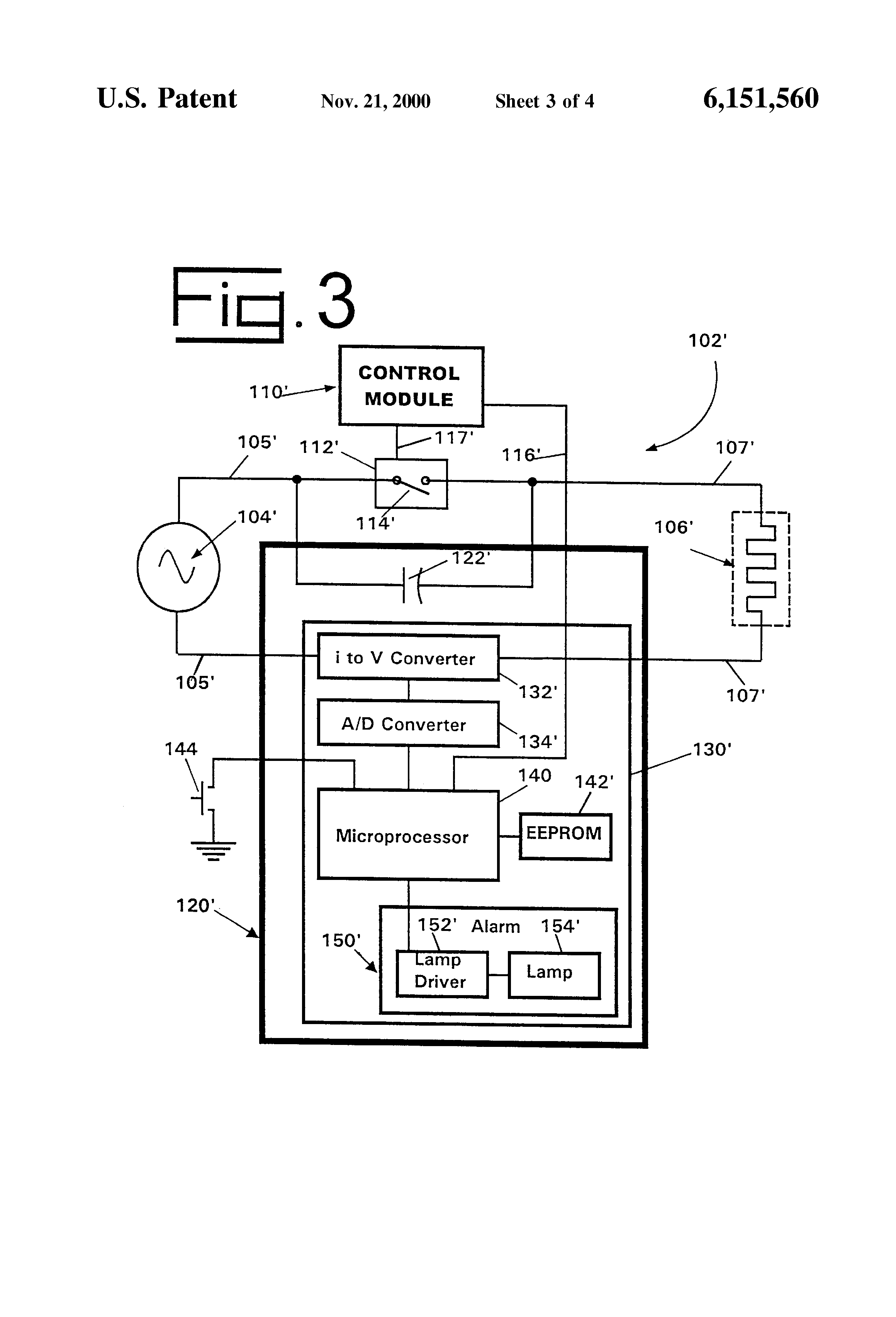Patent Us6151560 Open Circuit Failure Monitoring Apparatus For Figure 2 Pushbutton Closed Current Flows Drawing