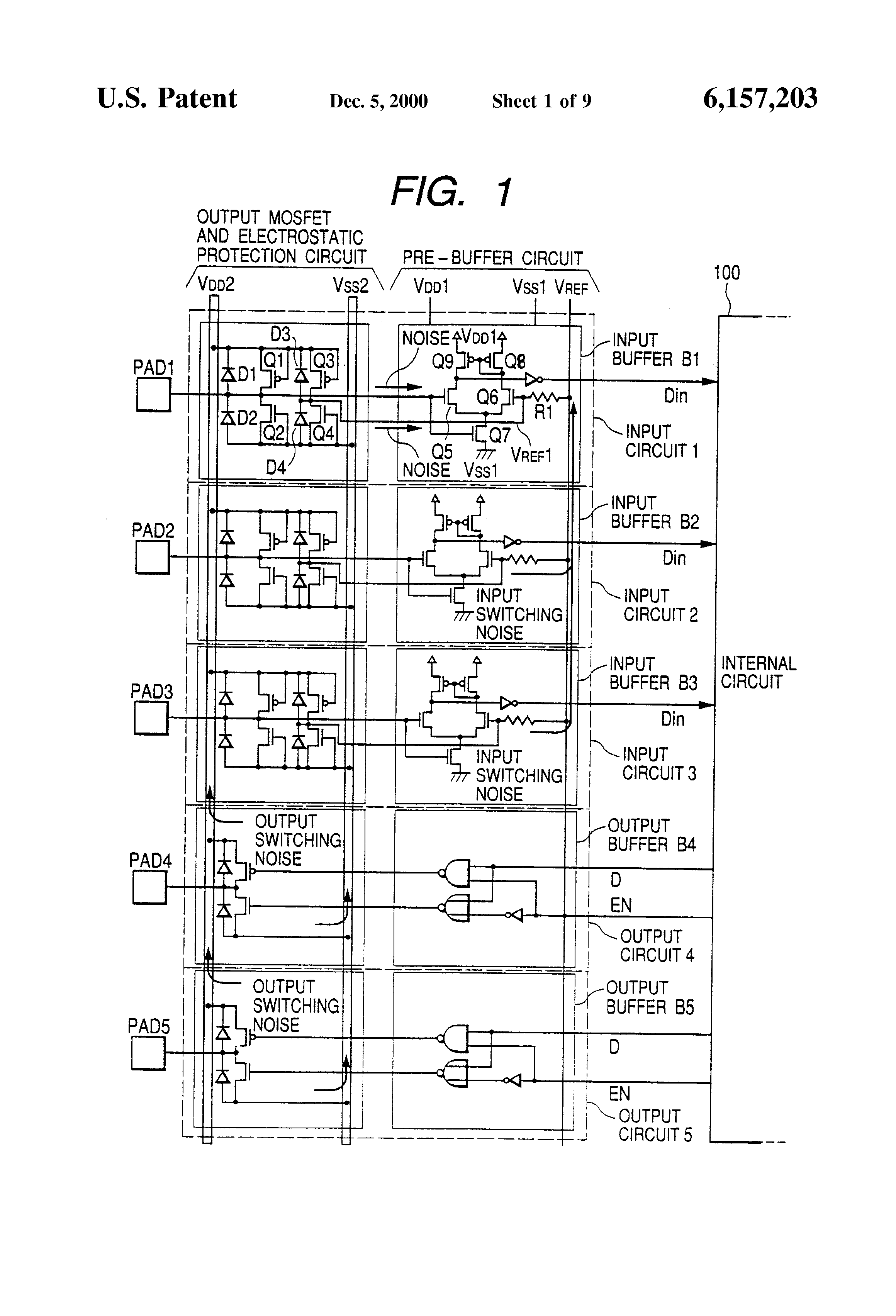 Patent Us6157203 Input Circuit With Improved Operating Margin Diagram Complementary Ttl Inverter Drawing
