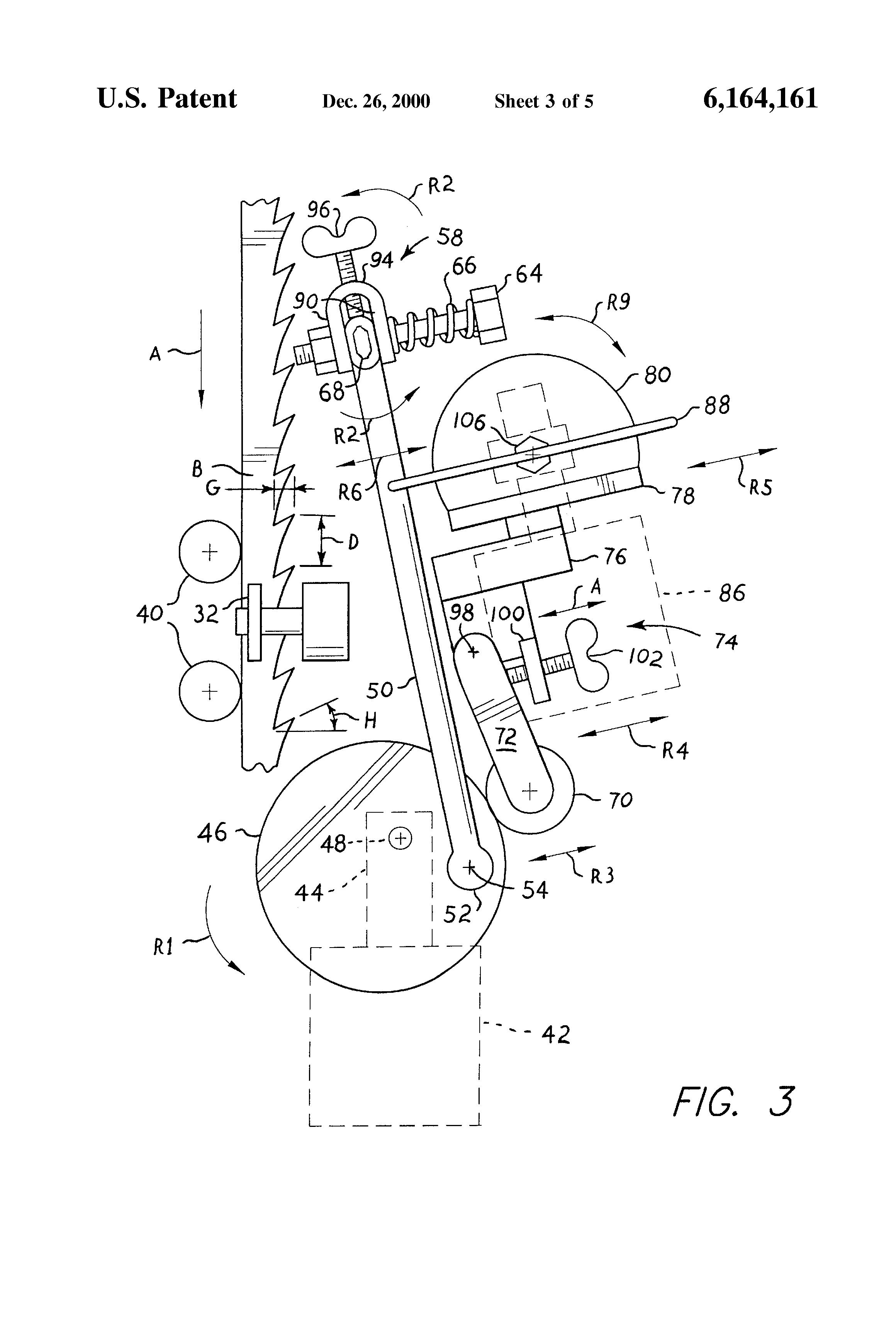 Patent Us6164161 Band Saw Blade Sharpener Google Patents