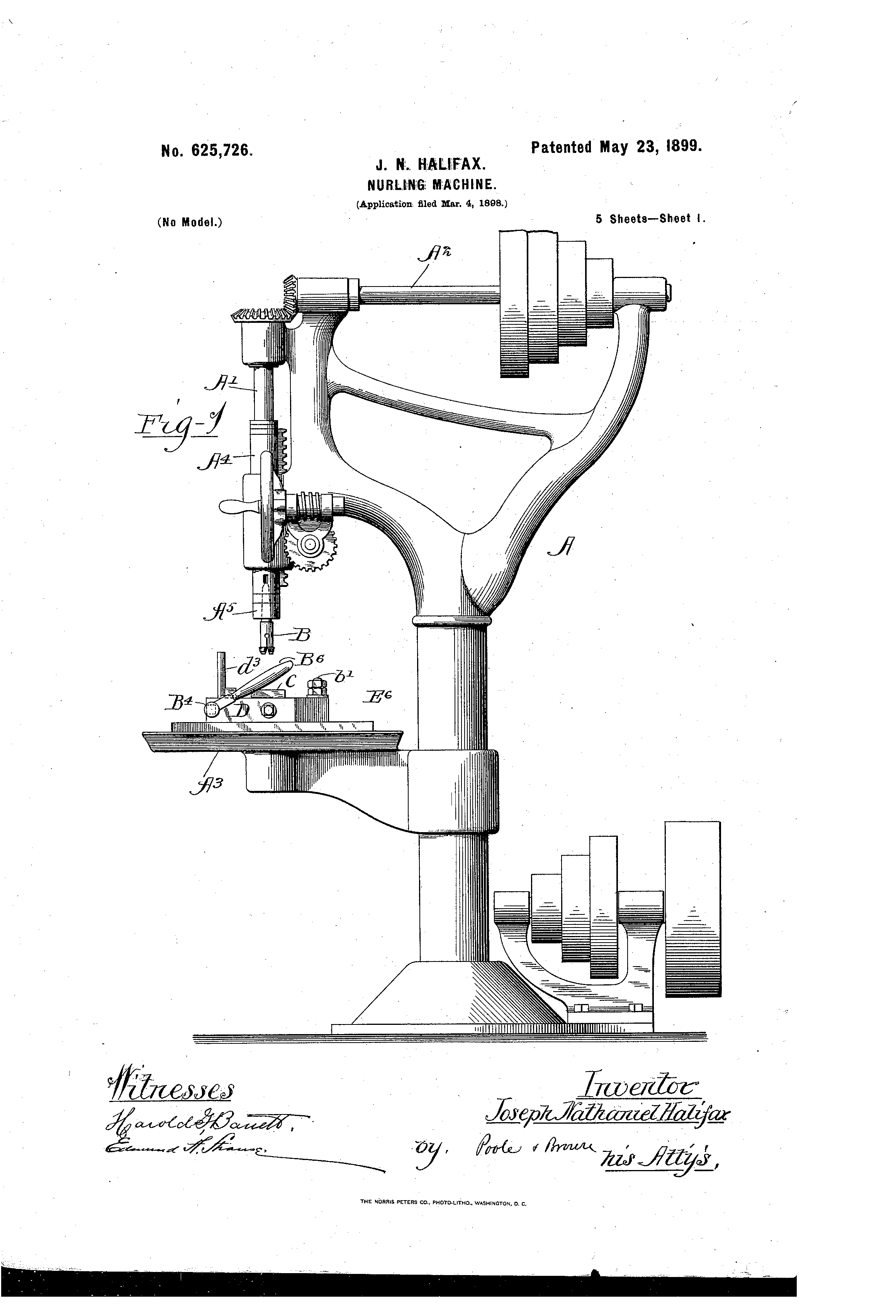 Patent US625726 - halifax - Google Patents