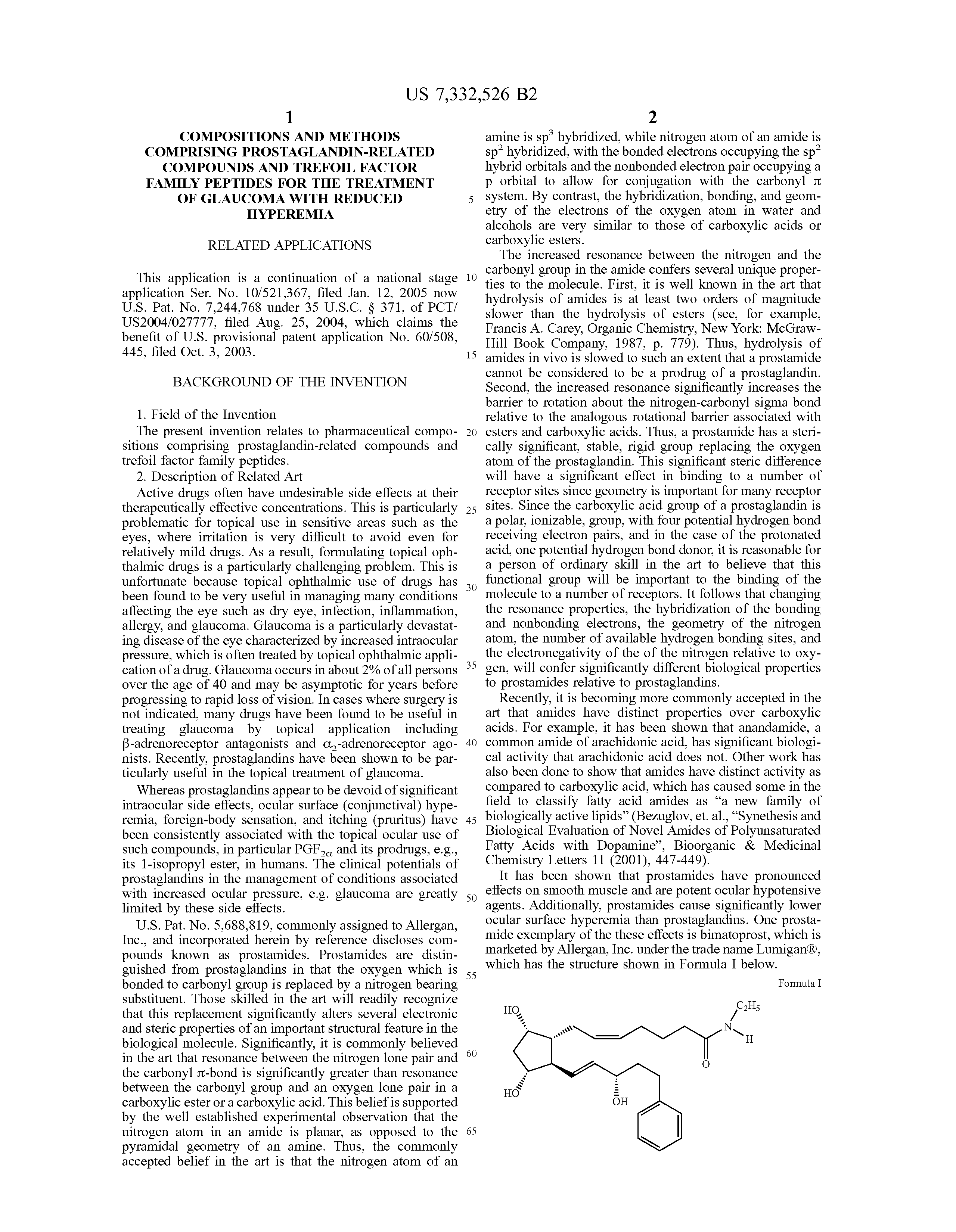 Latanoprost Dosage Forms