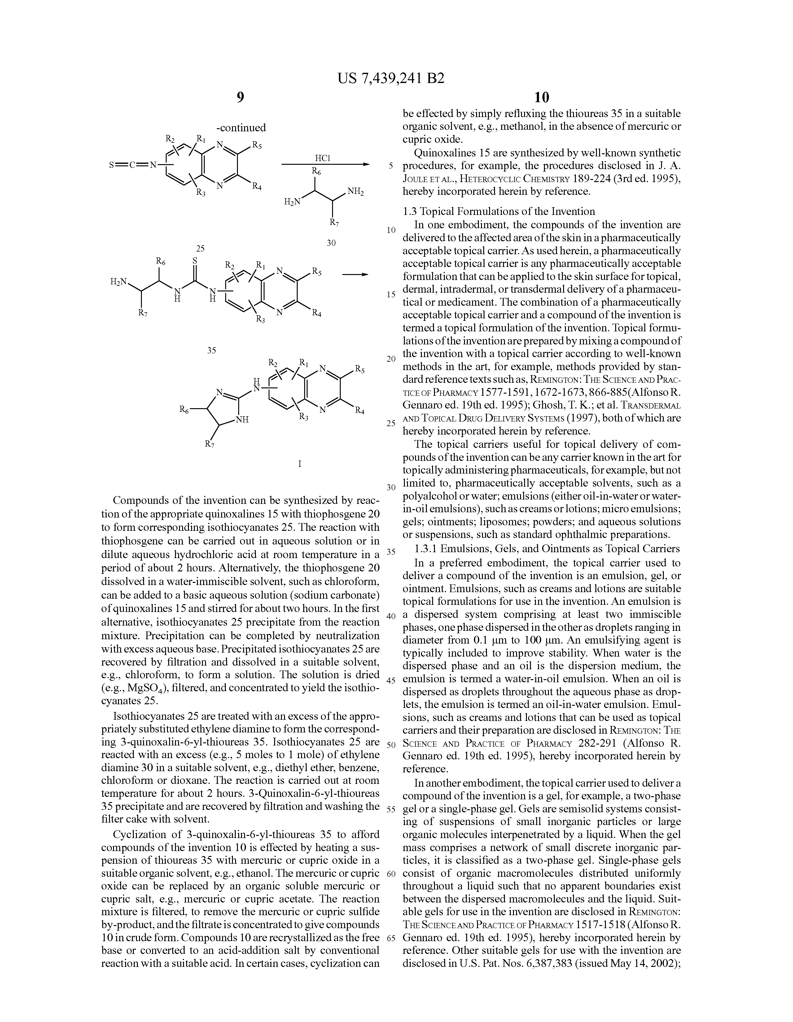 patent us compounds formulations and methods for  patent drawing