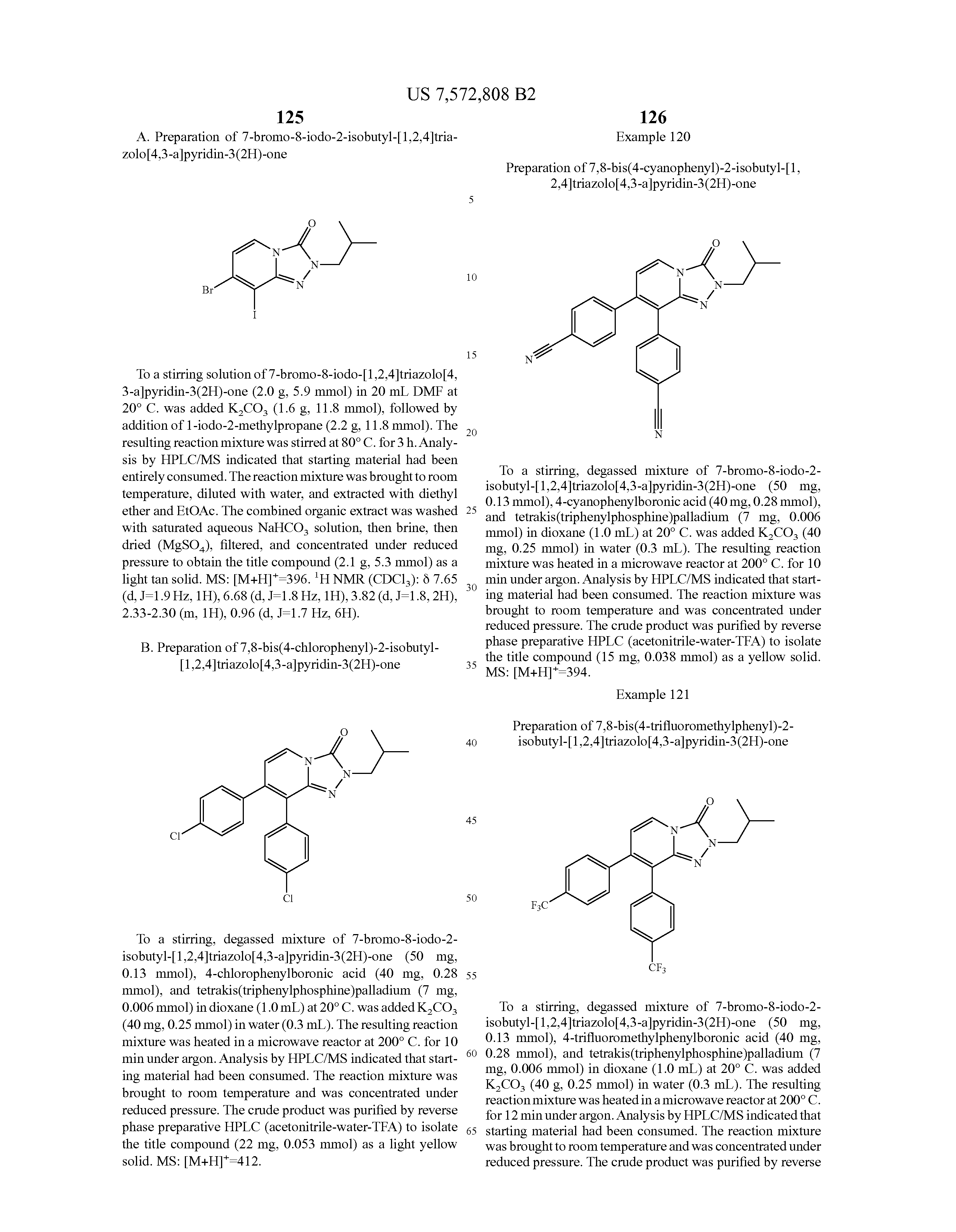 Patent US7572808 - Triazolopyridine cannabinoid receptor 1 ...