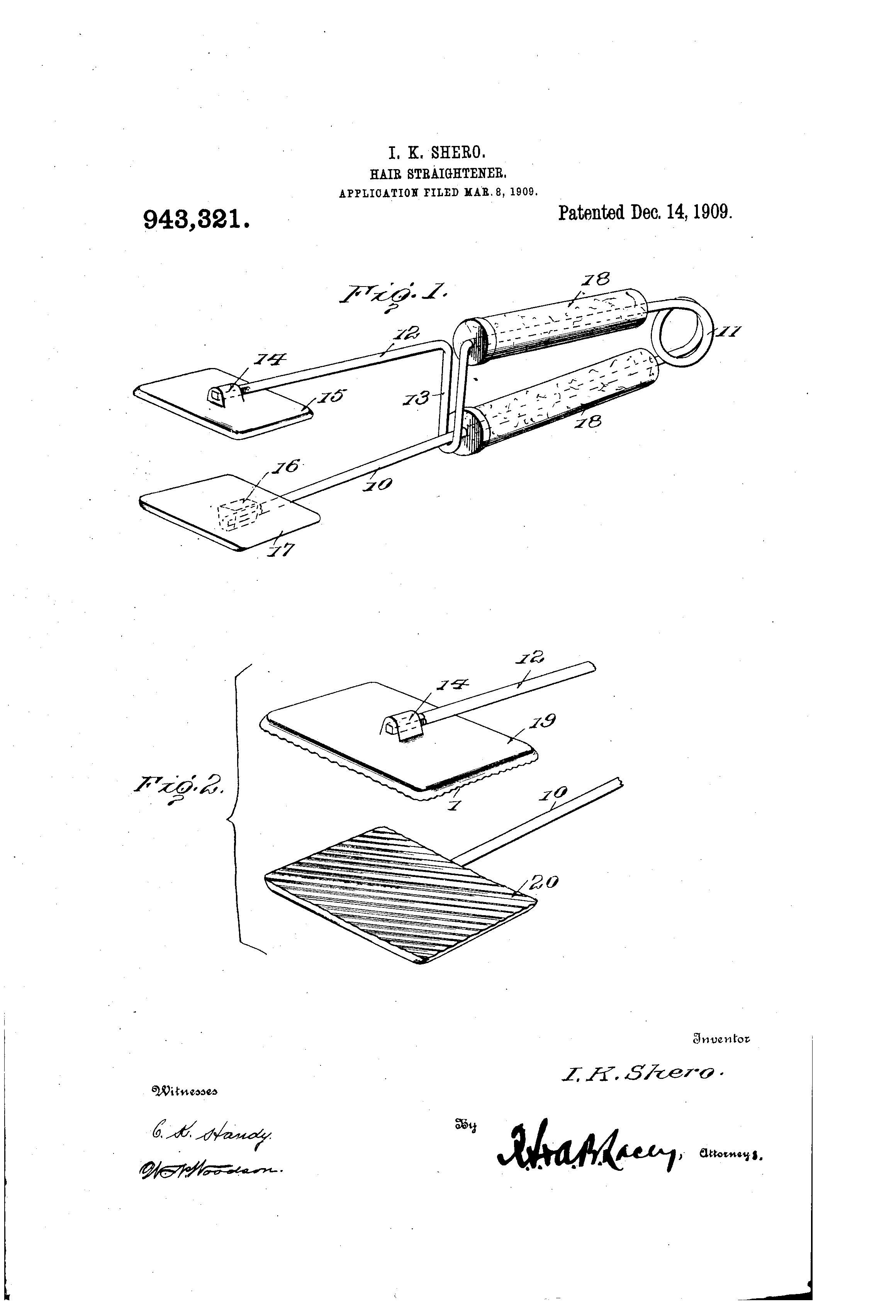 Patent Us943321 Hair Straightener Google Patents