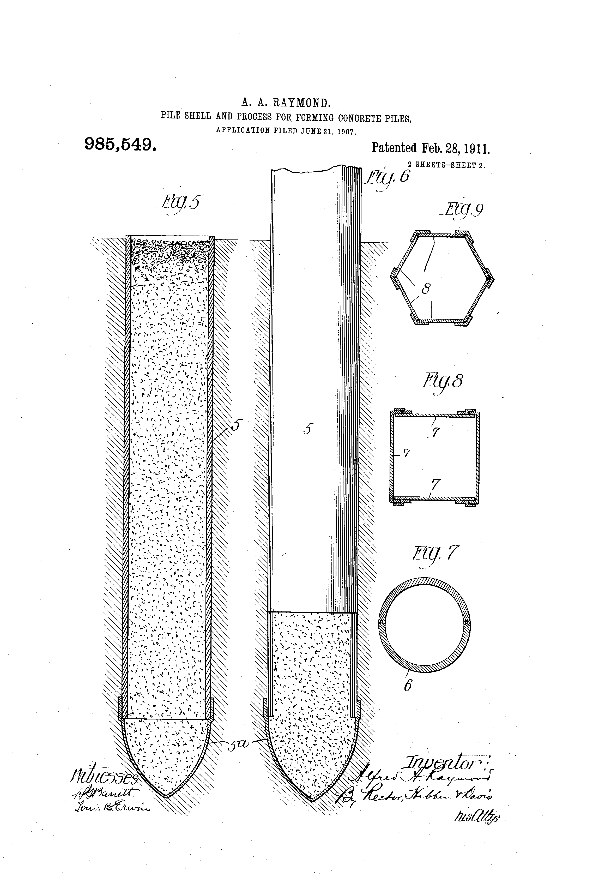 Patent Us985549 Pile Shell And Process For Forming