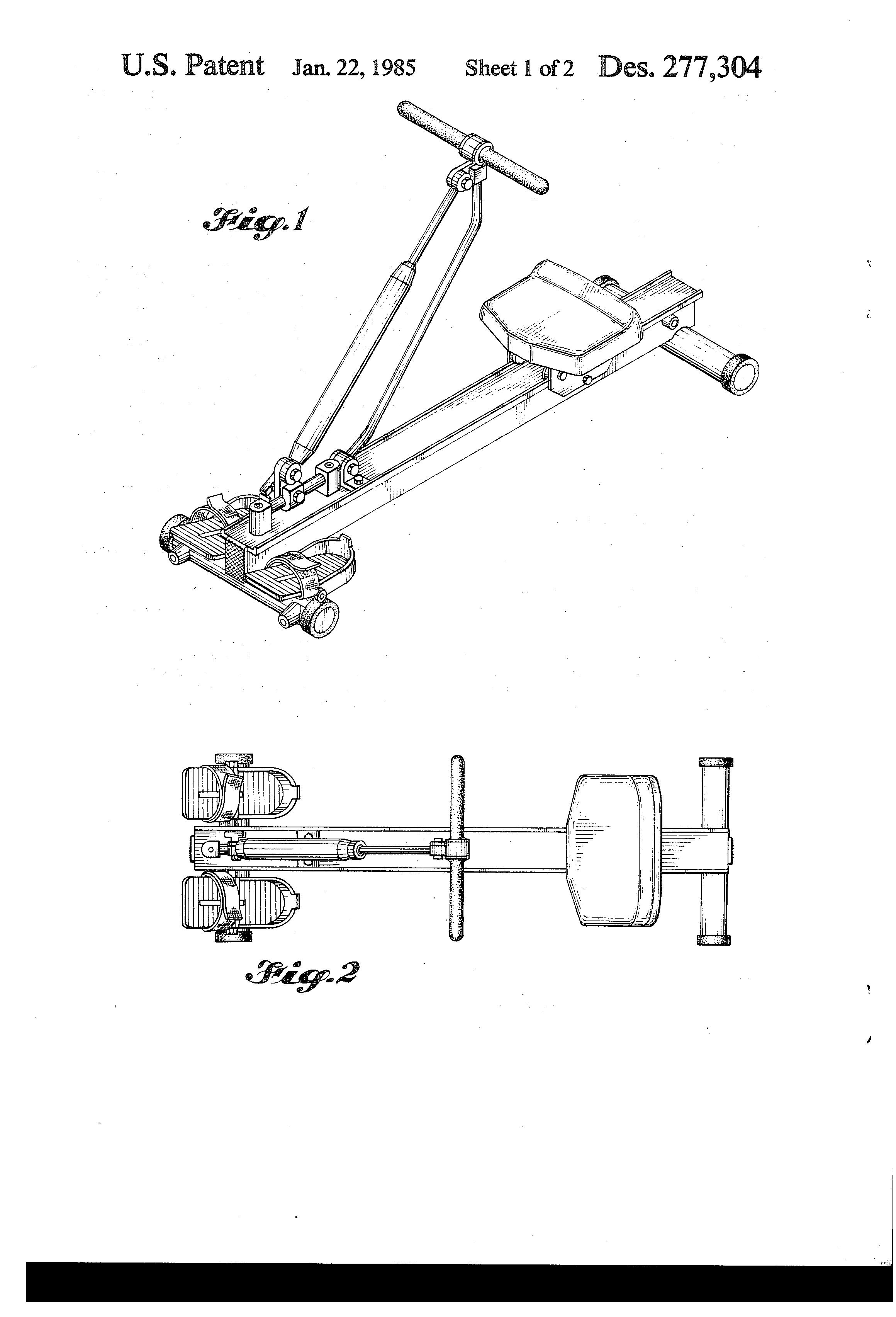 amerec precision rowing machine 610