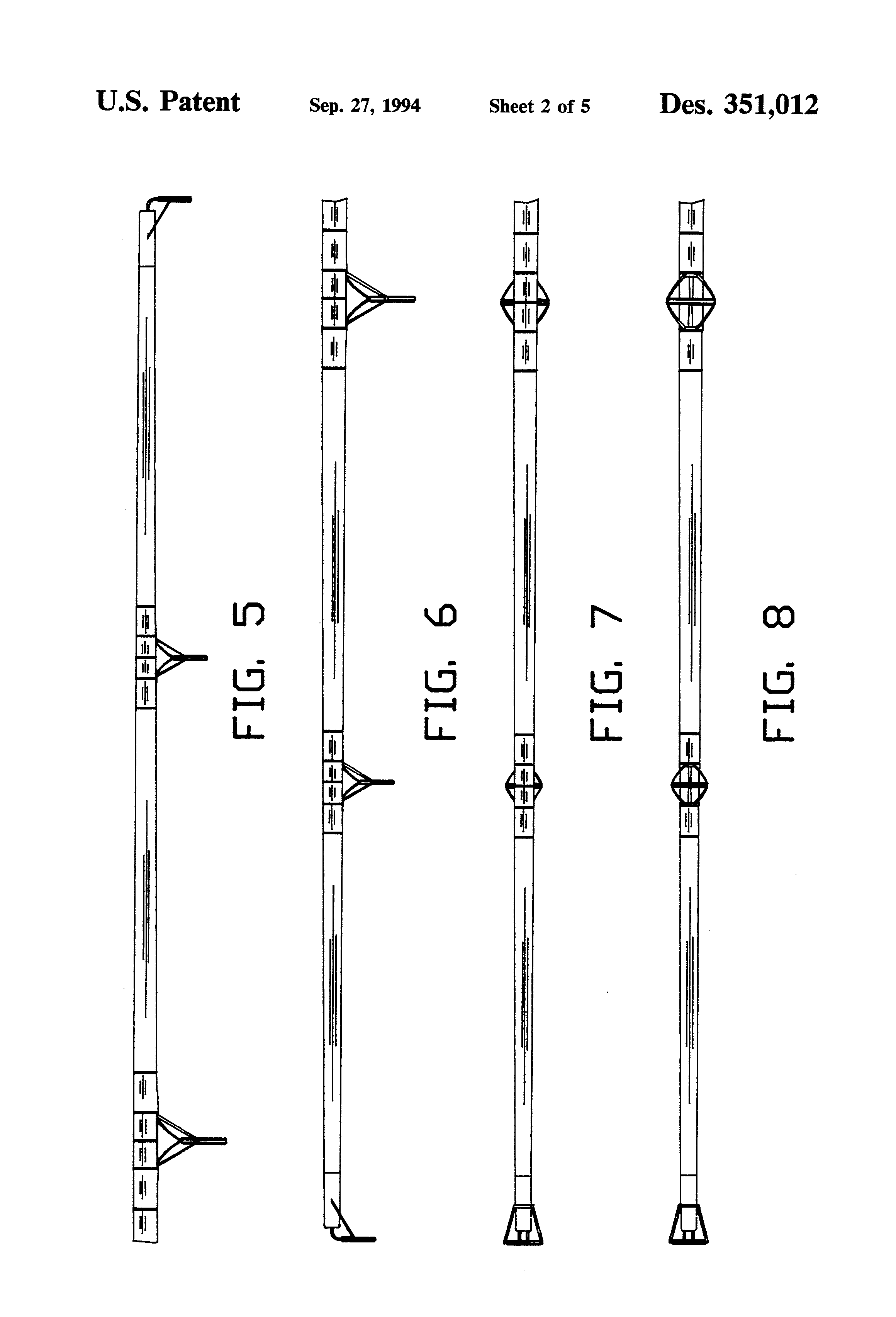 patent usd fishing rod patents patent drawing