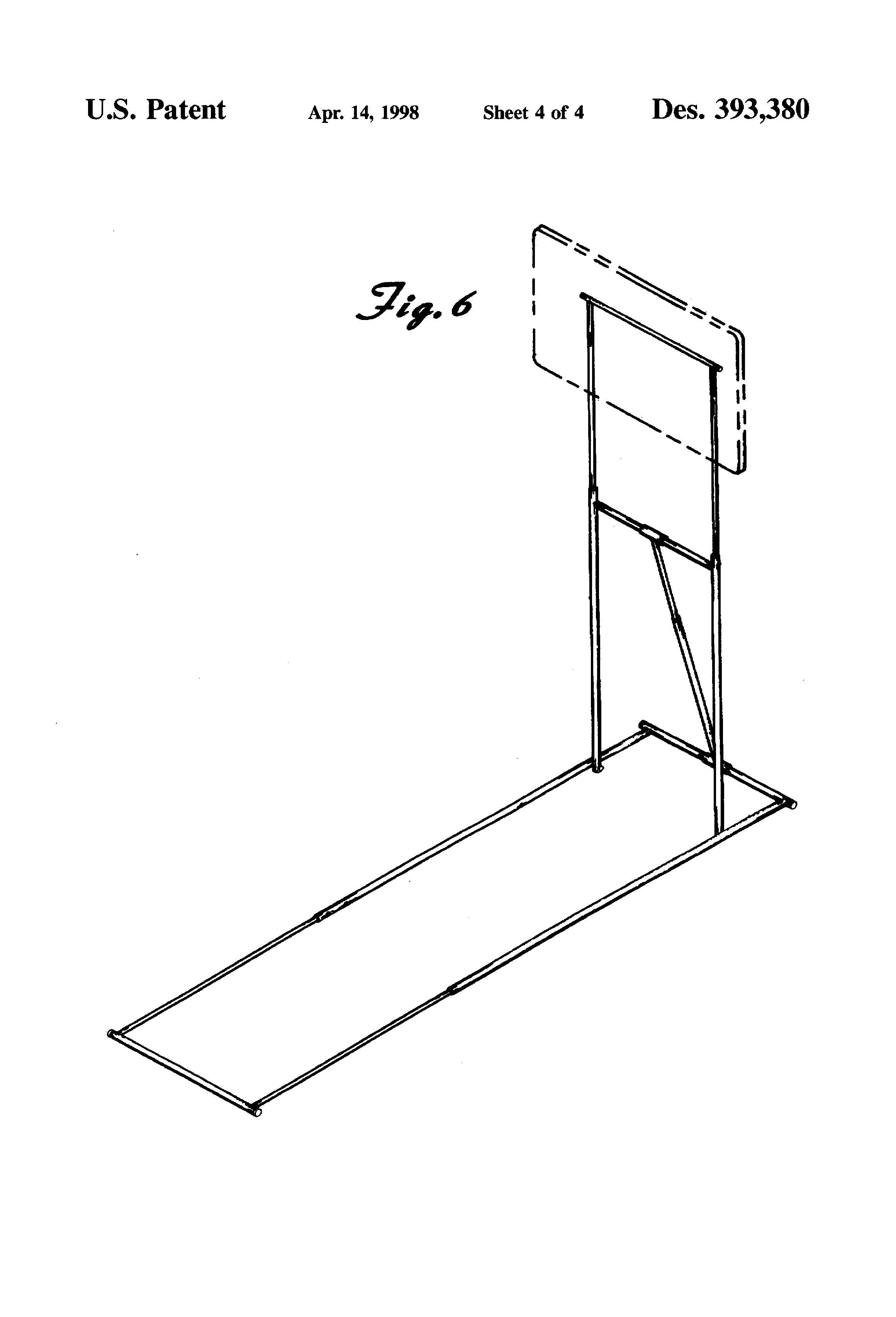 Patent Usd393380 Portable Dart Board Stand Google Patents