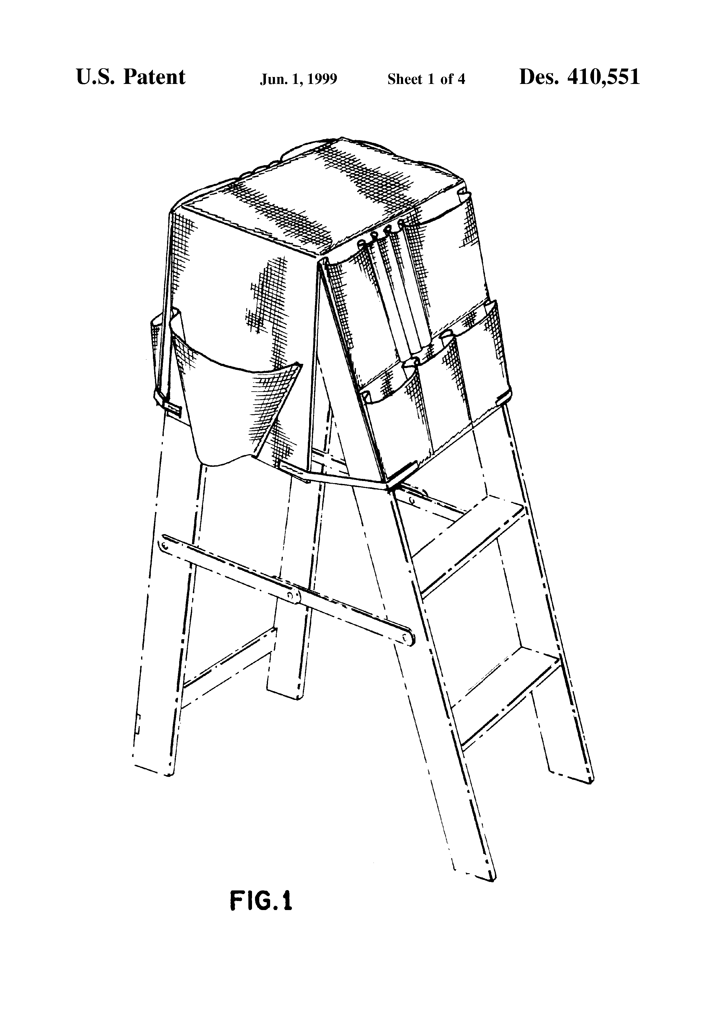 Patent Usd410551 Ladder Caddy Tool Pouch Google Patents