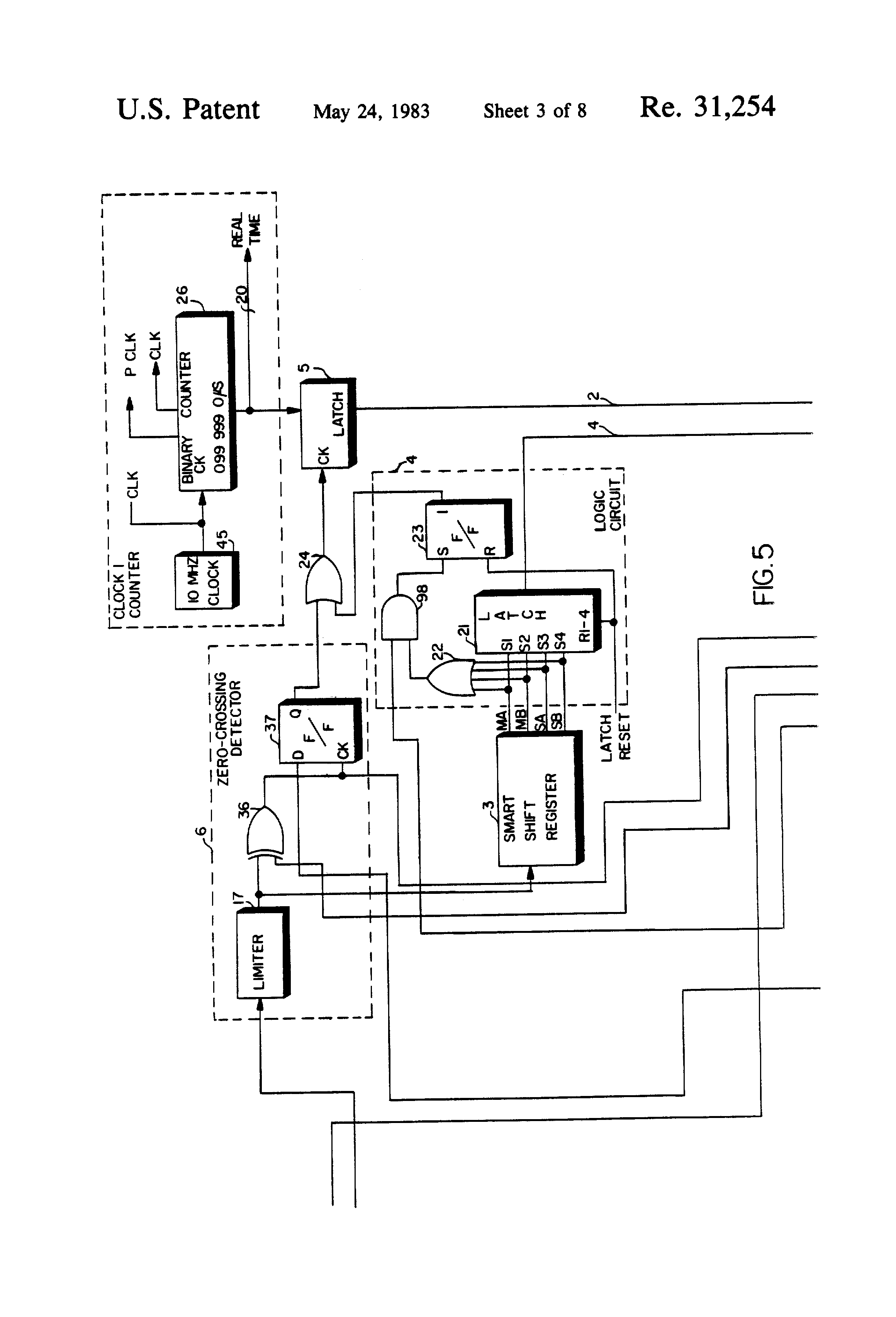 Patent Usre31254 Self Calibration Of A Loran C Navigation Receiver Latching Circuit With Momentary Switch Further Homemade Electric Fence Drawing