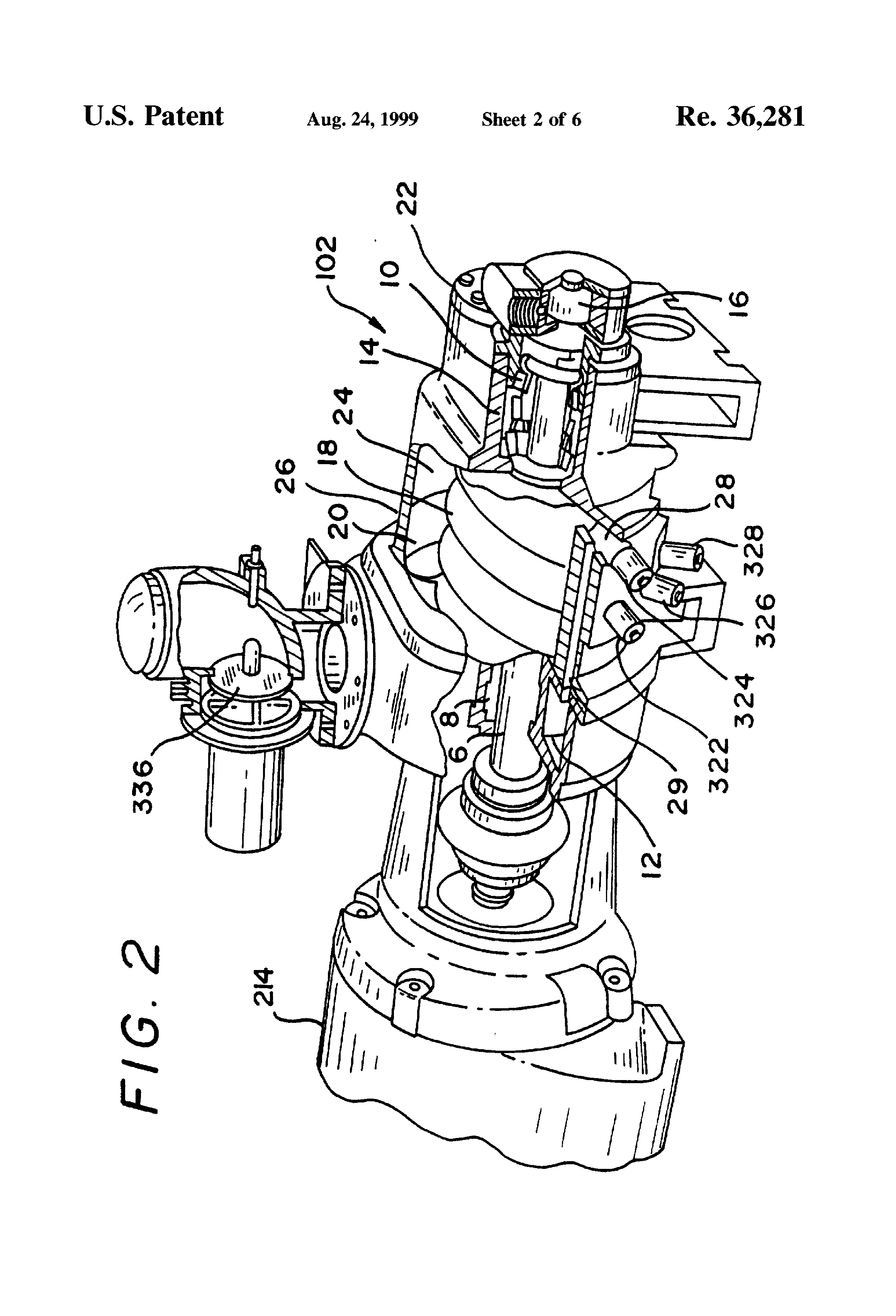 patent usre valve system for capacity control of a screw patent drawing