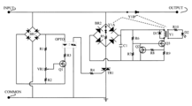 Latching Circuit Discrete moreover A20 together with Uncontrolled Diode Bridge Rectifier in addition 2SC4851 as well Thyristor ladder wave inverter circuit. on thyristor circuits