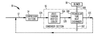 US7254959B1 - Joule-Thomson effect air conditioner using air as the